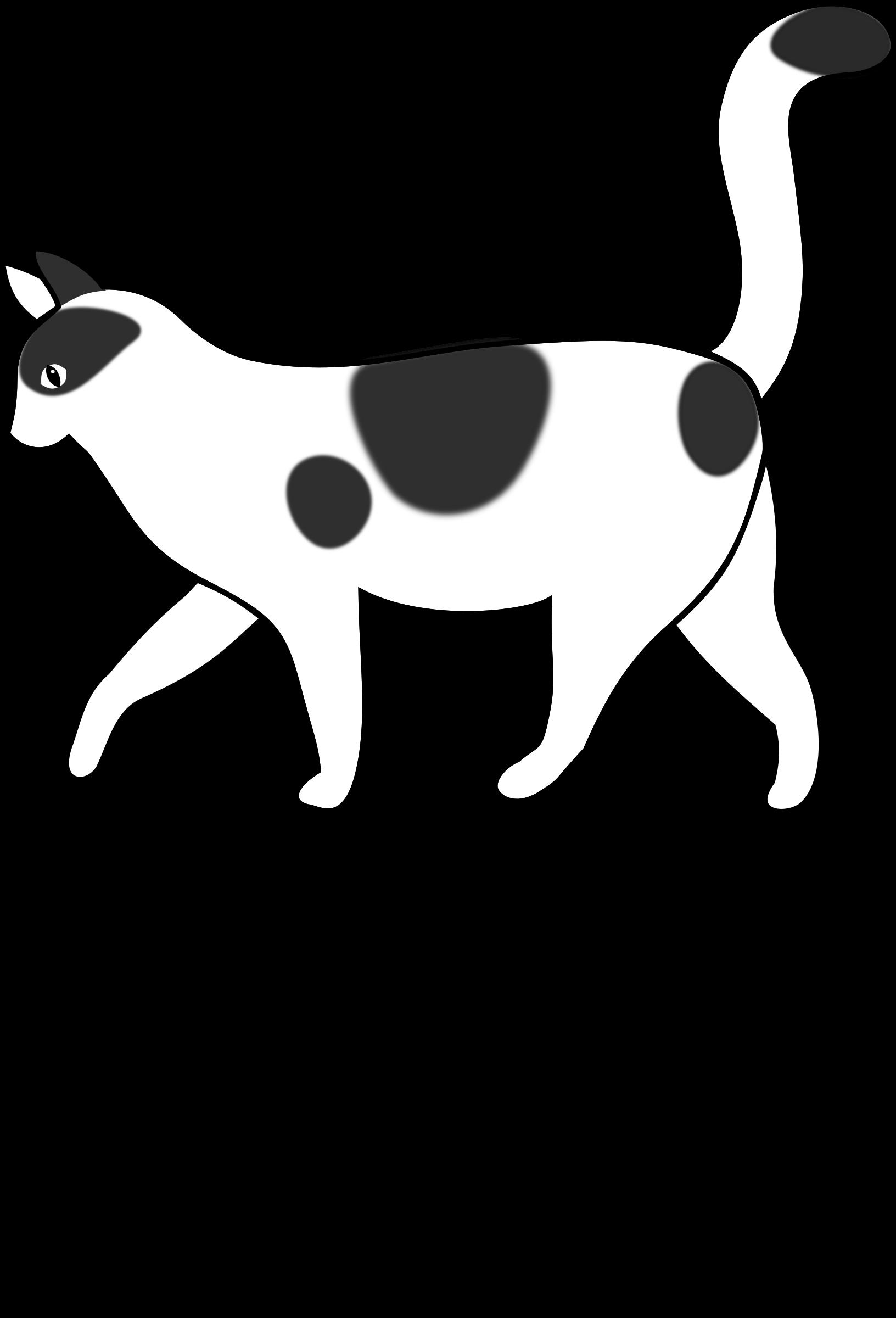 Clipart - Letra G de Gato para colorear