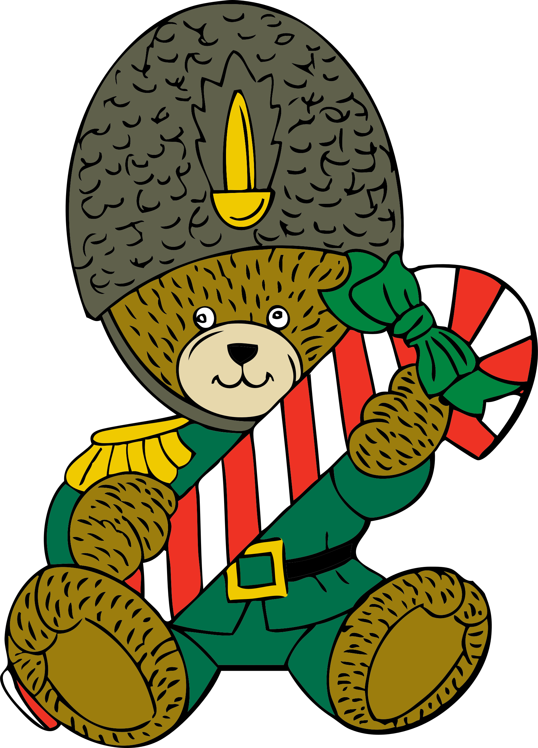 Christmas guard bear by johnny_automatic