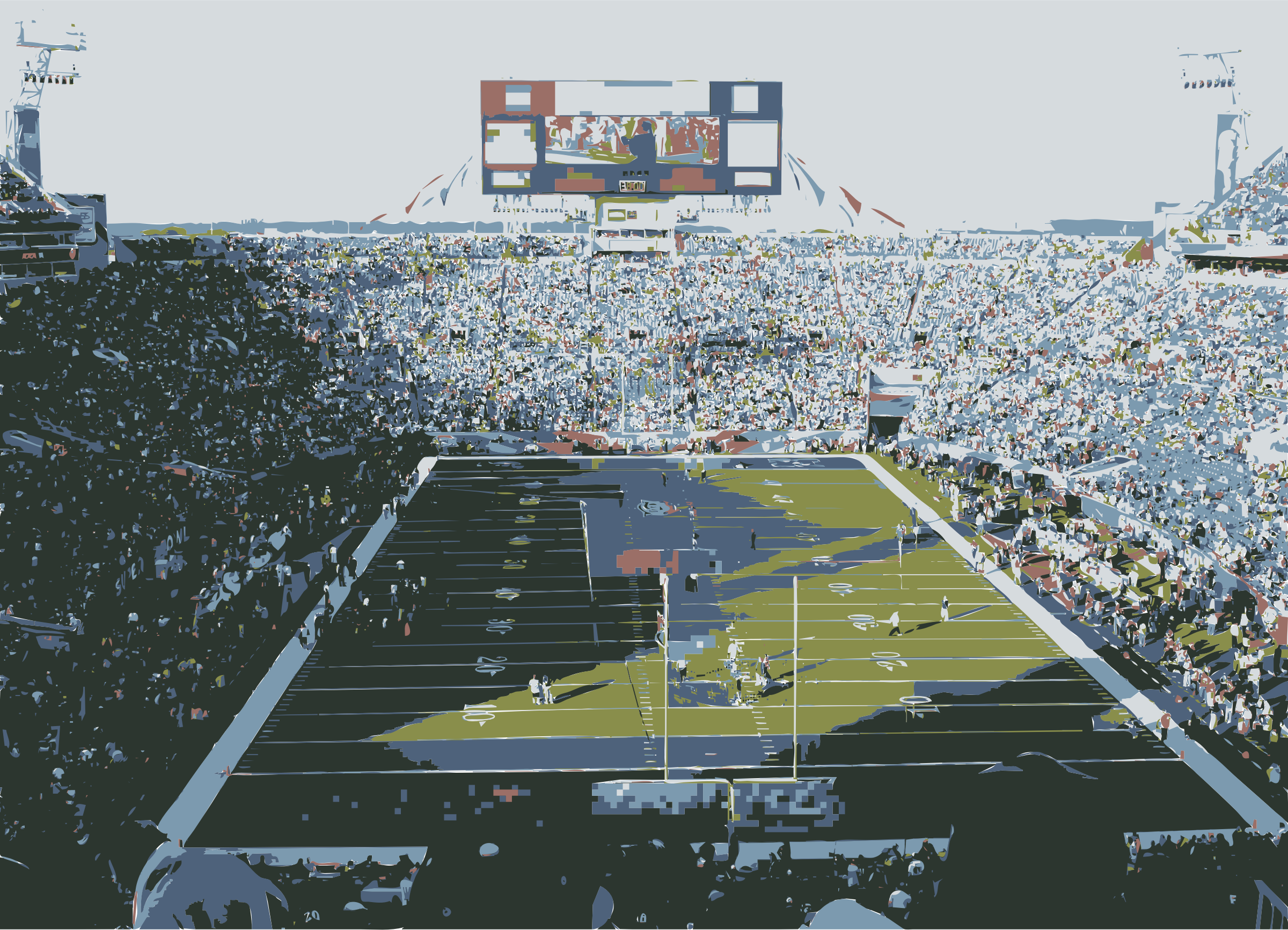 Superbowl Football Stadium Color by jonphillips