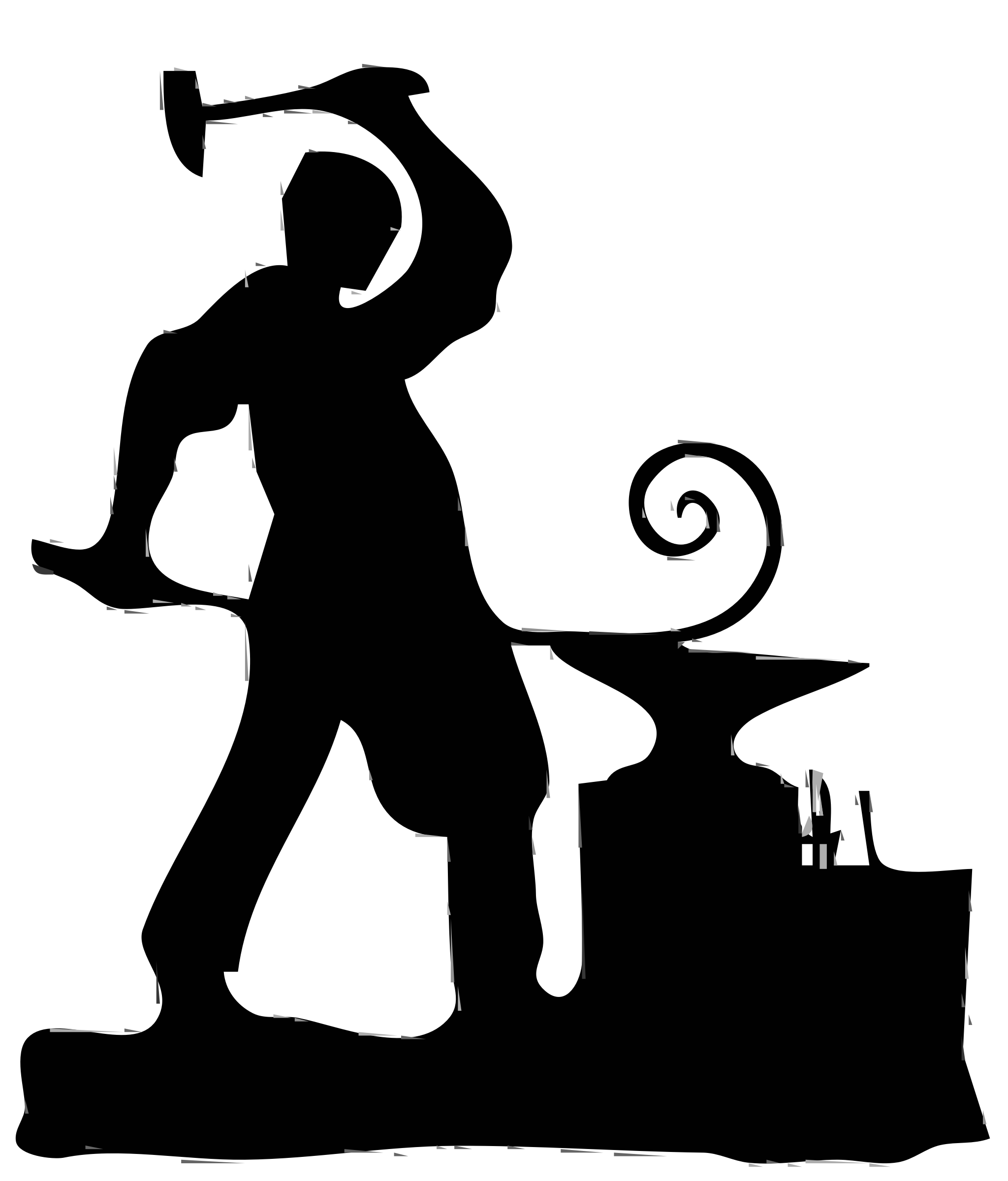 Clipart - Blacksmith