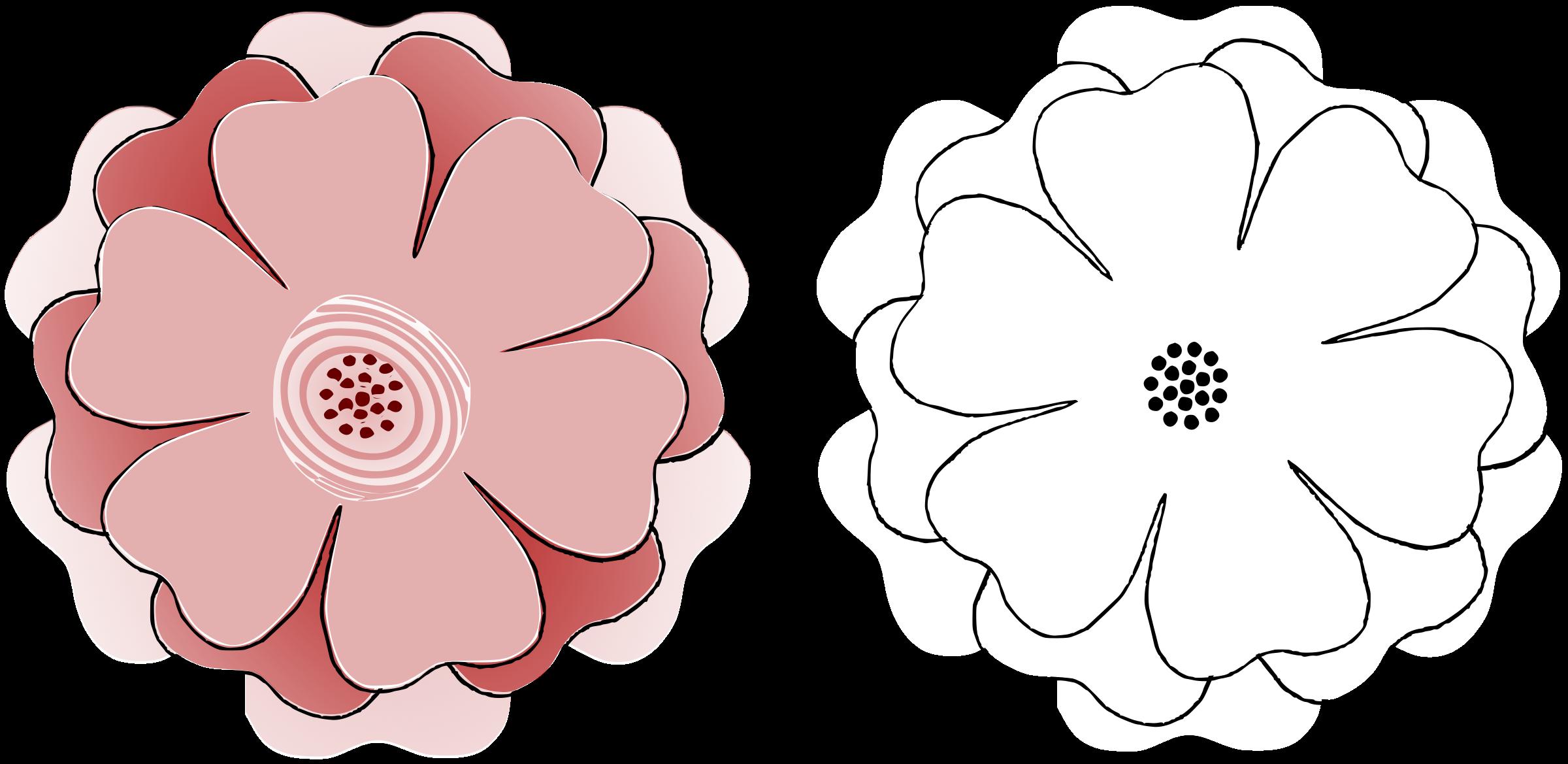 Clipart Flower Multichoice 6 Petal s3 Template – Flower Petal Template