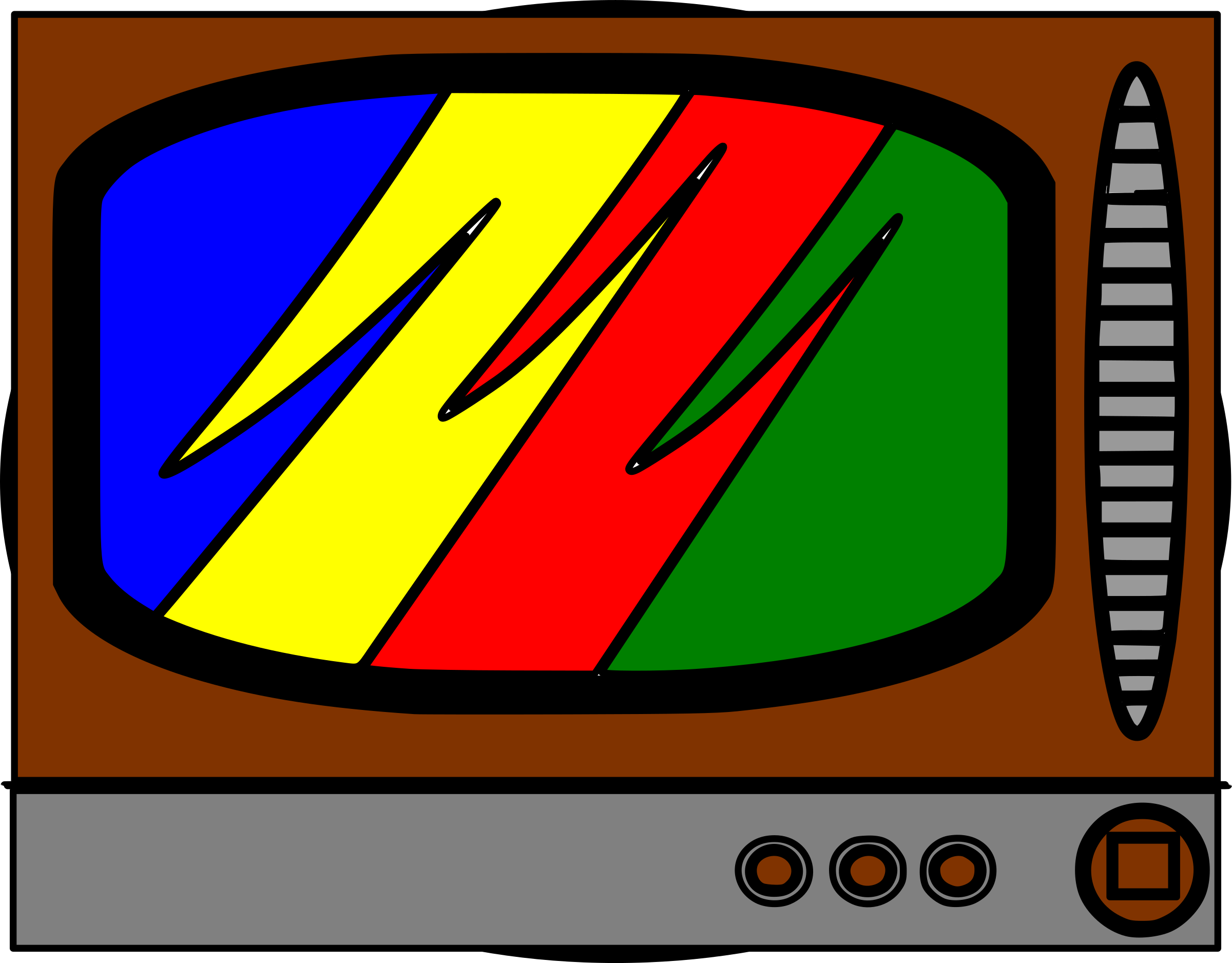 Clipart - Broken TV