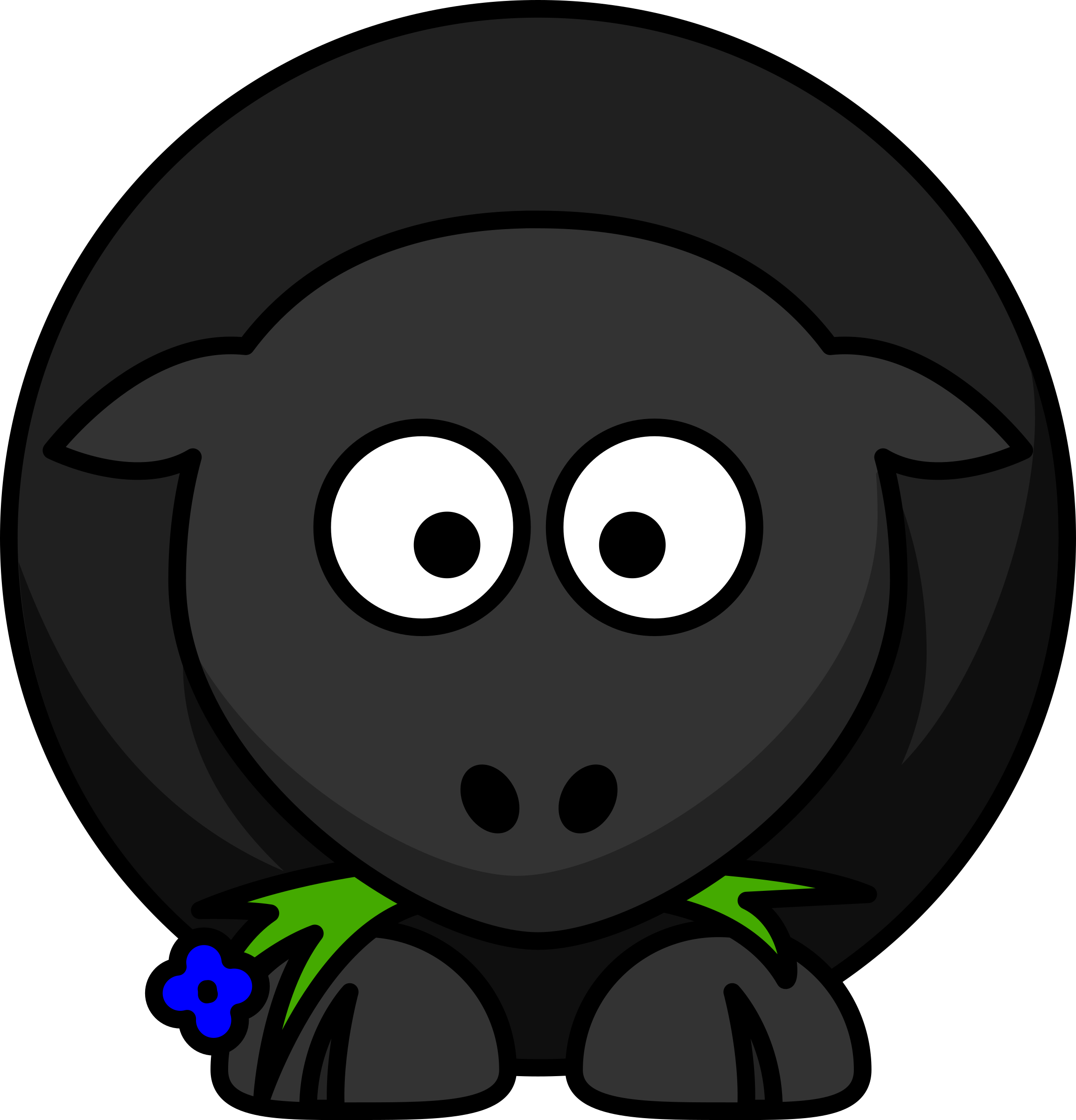 Cartoon Black Sheep by Schplook