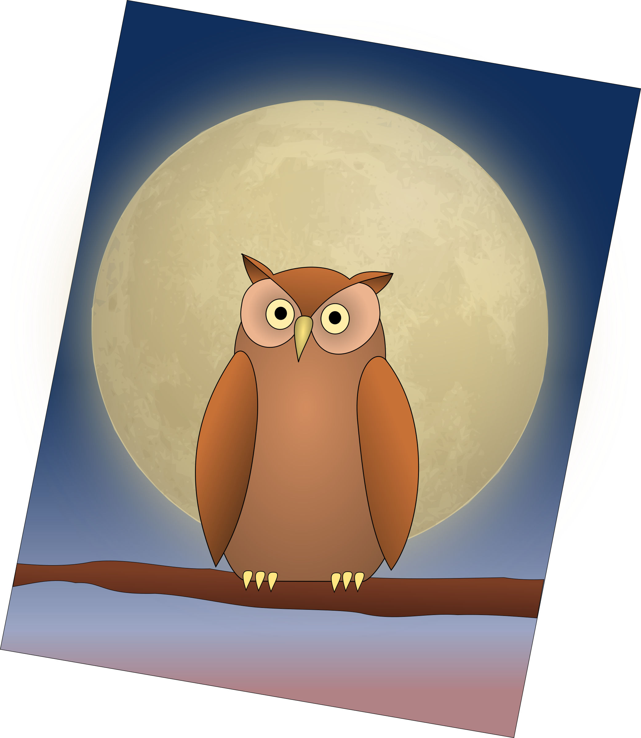 The Owl and The Moon by opk