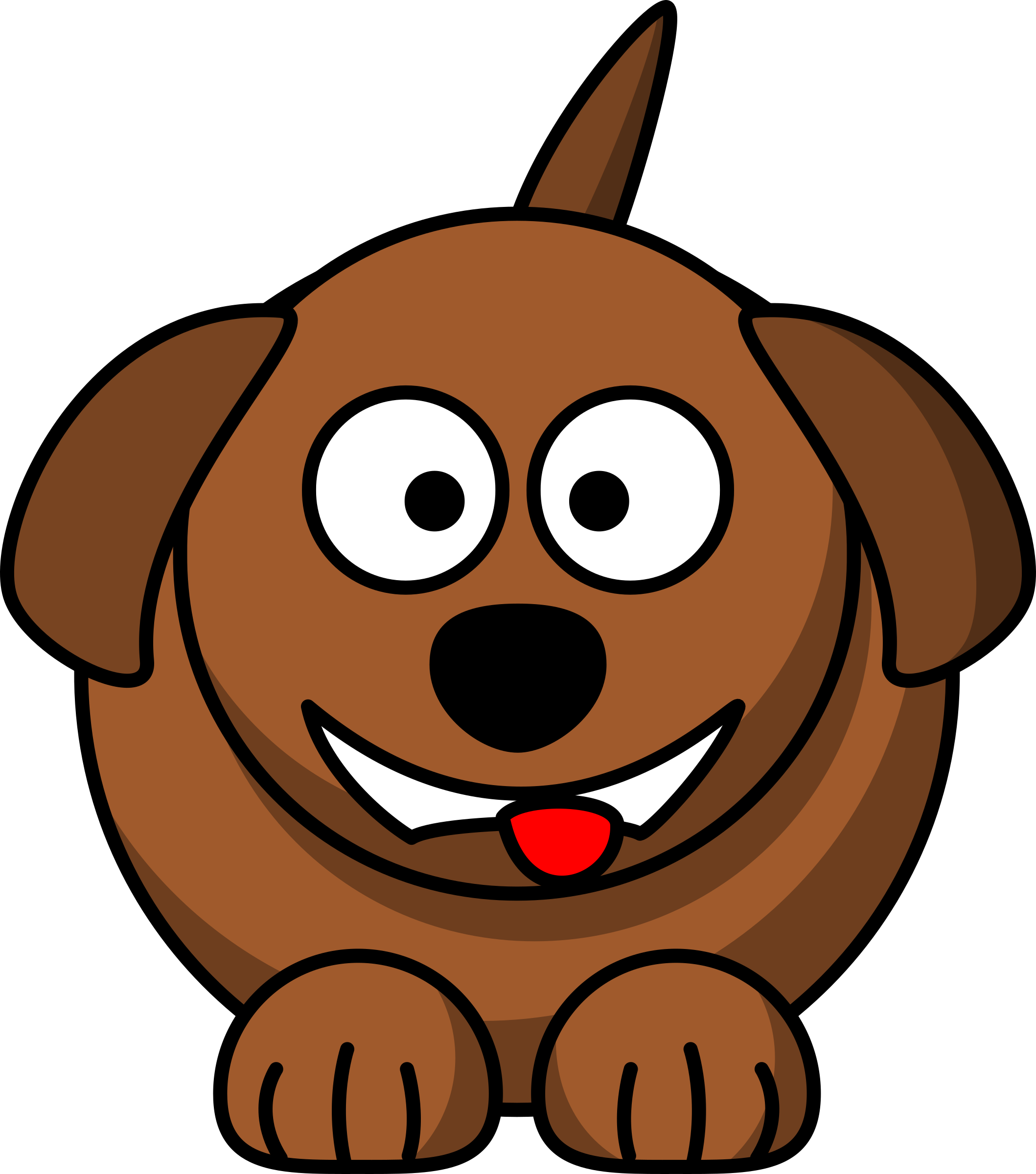 Cartoon dog laughing or smiling by Schplook