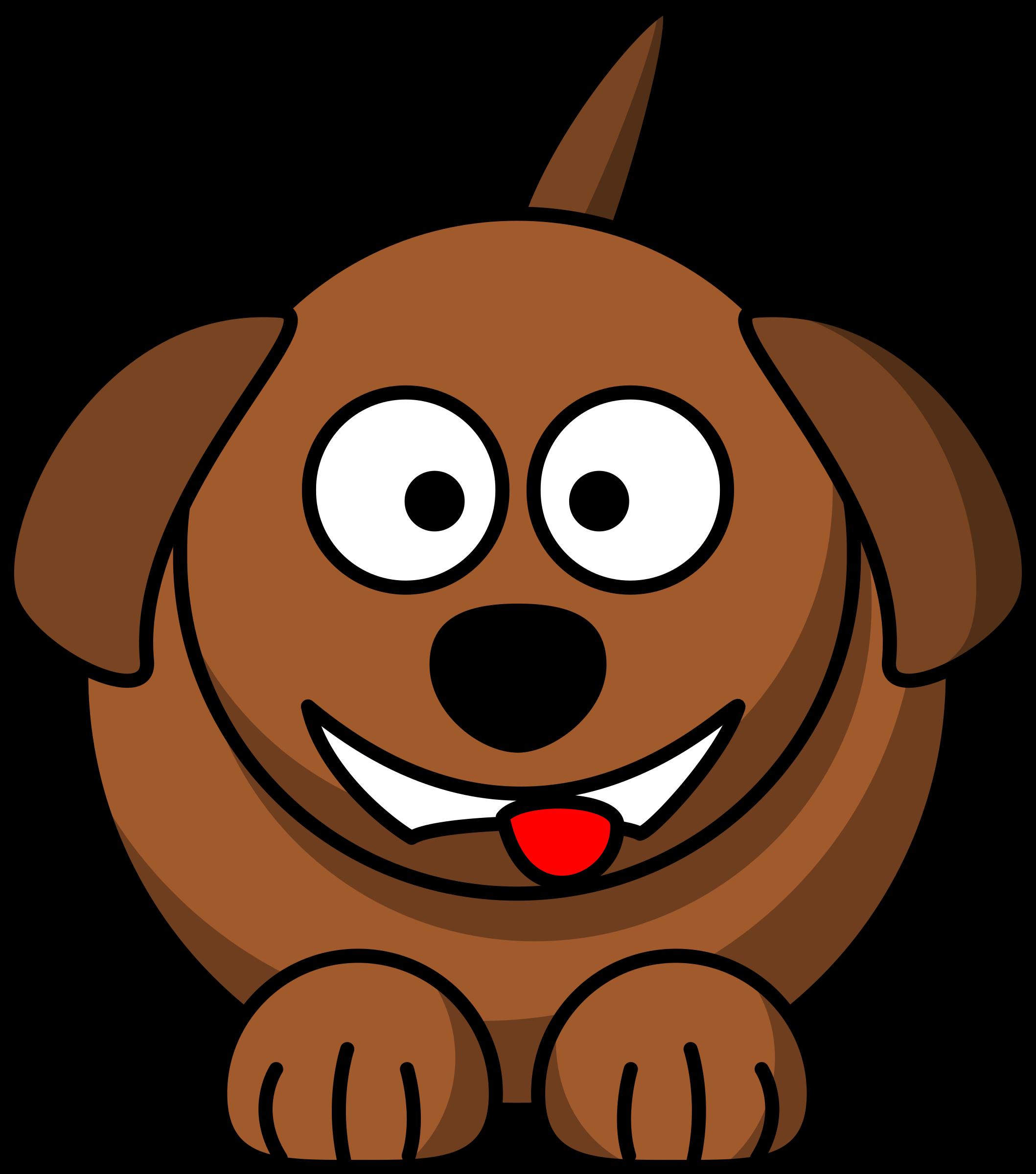 Cartoon dog laughing or smiling