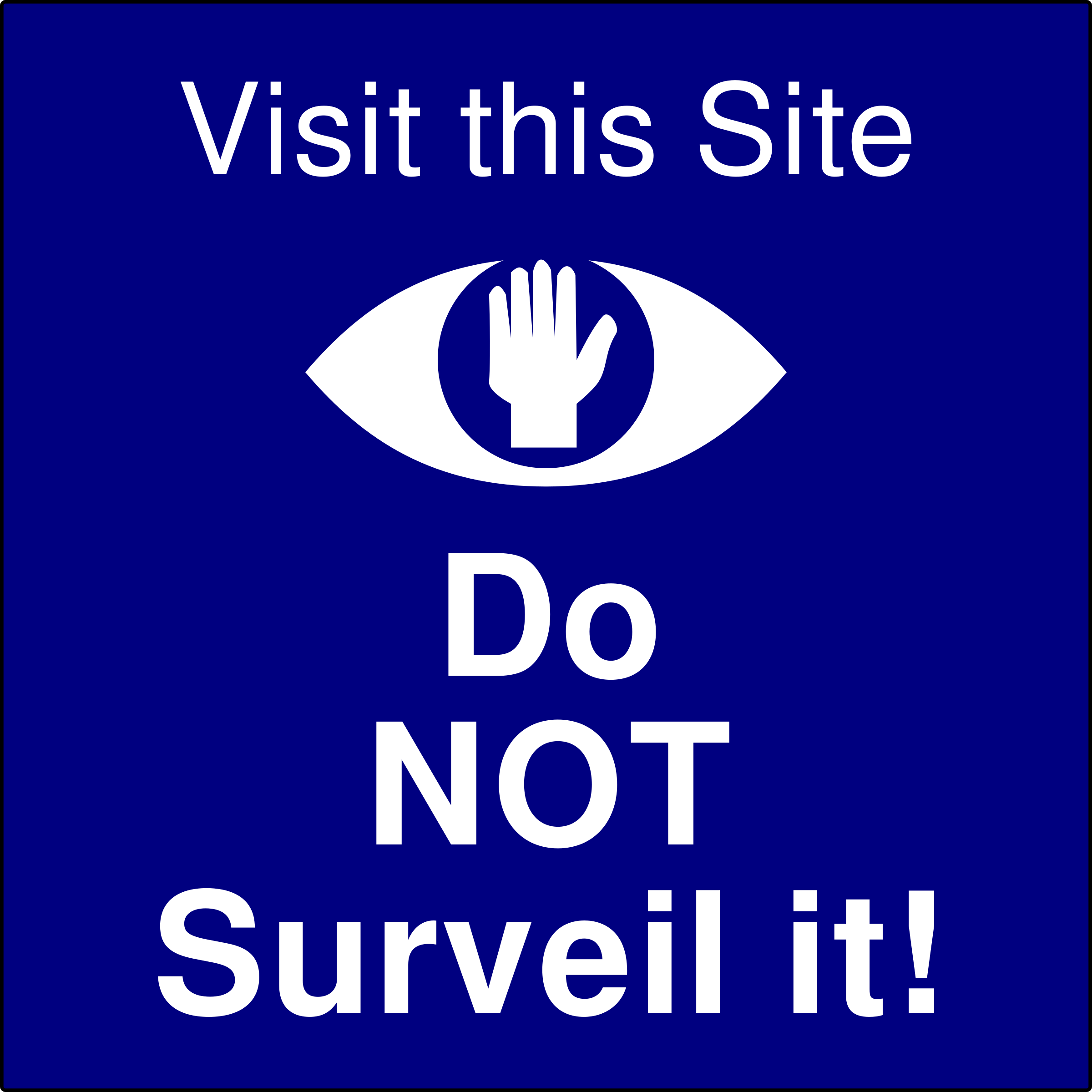 Do Not Surveil this Site by algotruneman