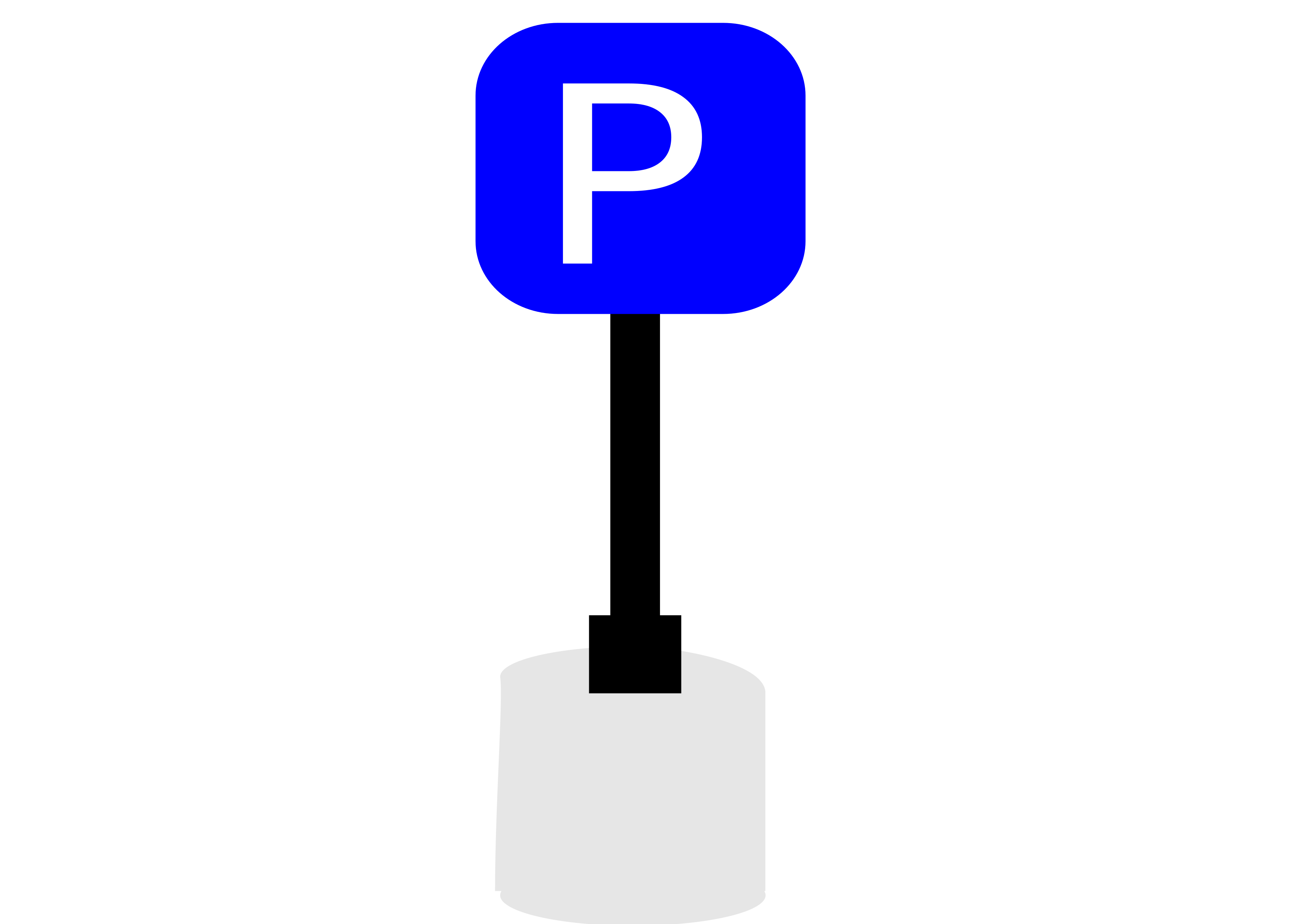 Clipart - parking sign