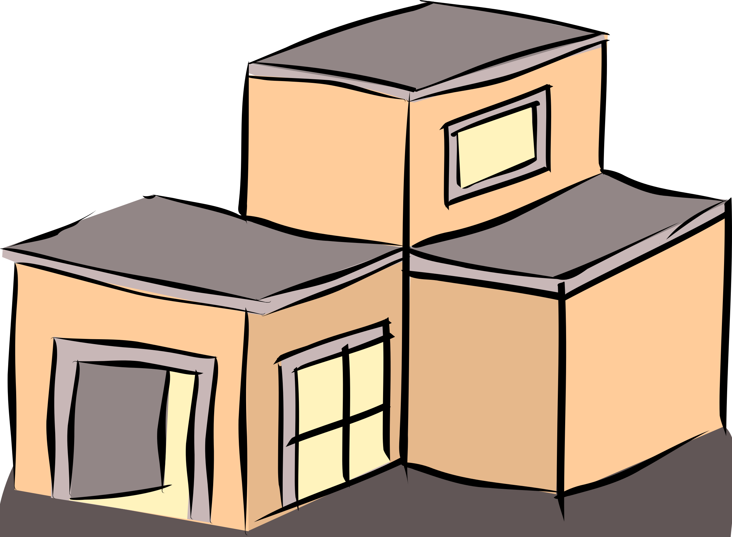 Clipart Salmon Coloured Building