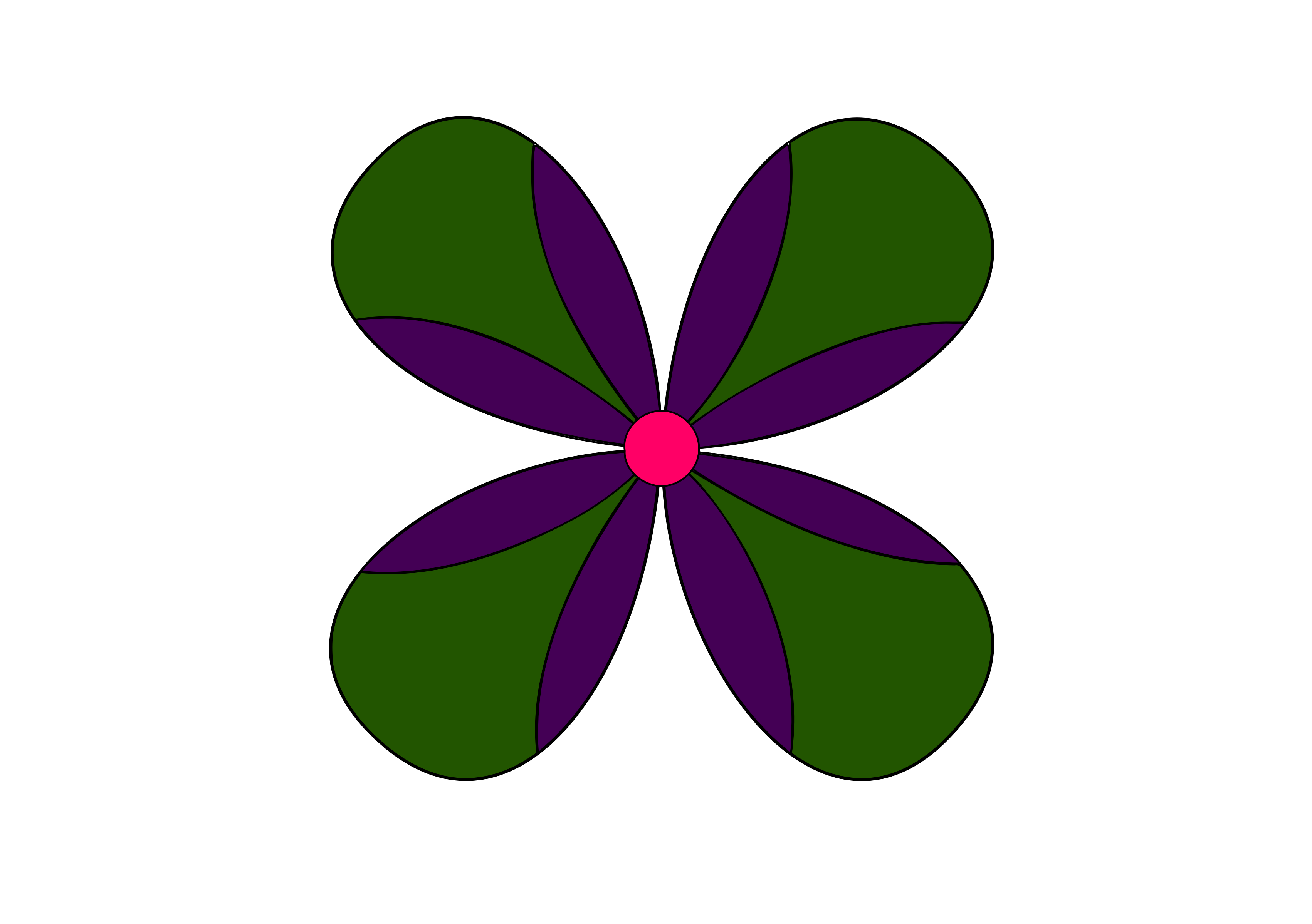 Purple & Green Flower by Siddymcbill