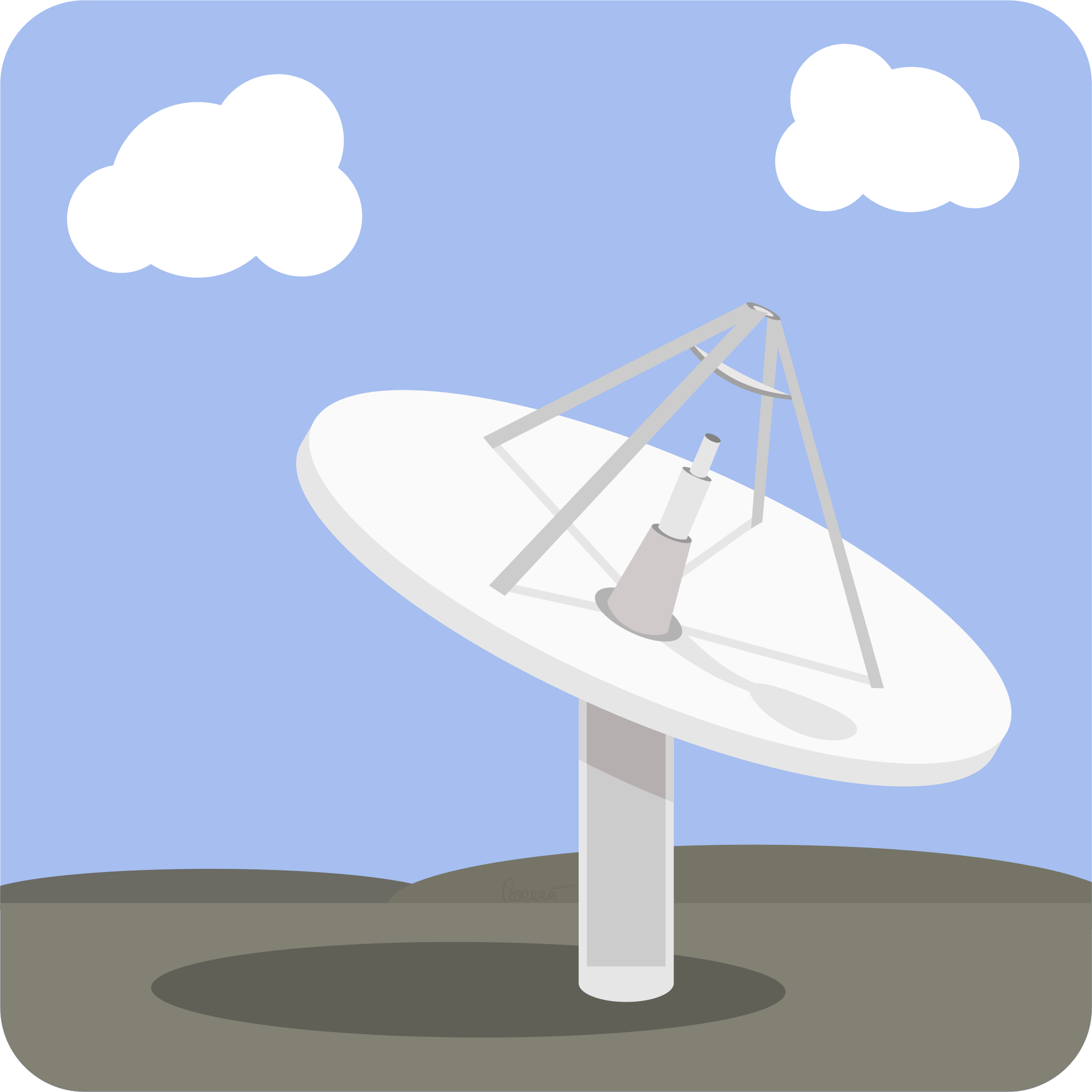Satellite Dish Base Station by barrettward