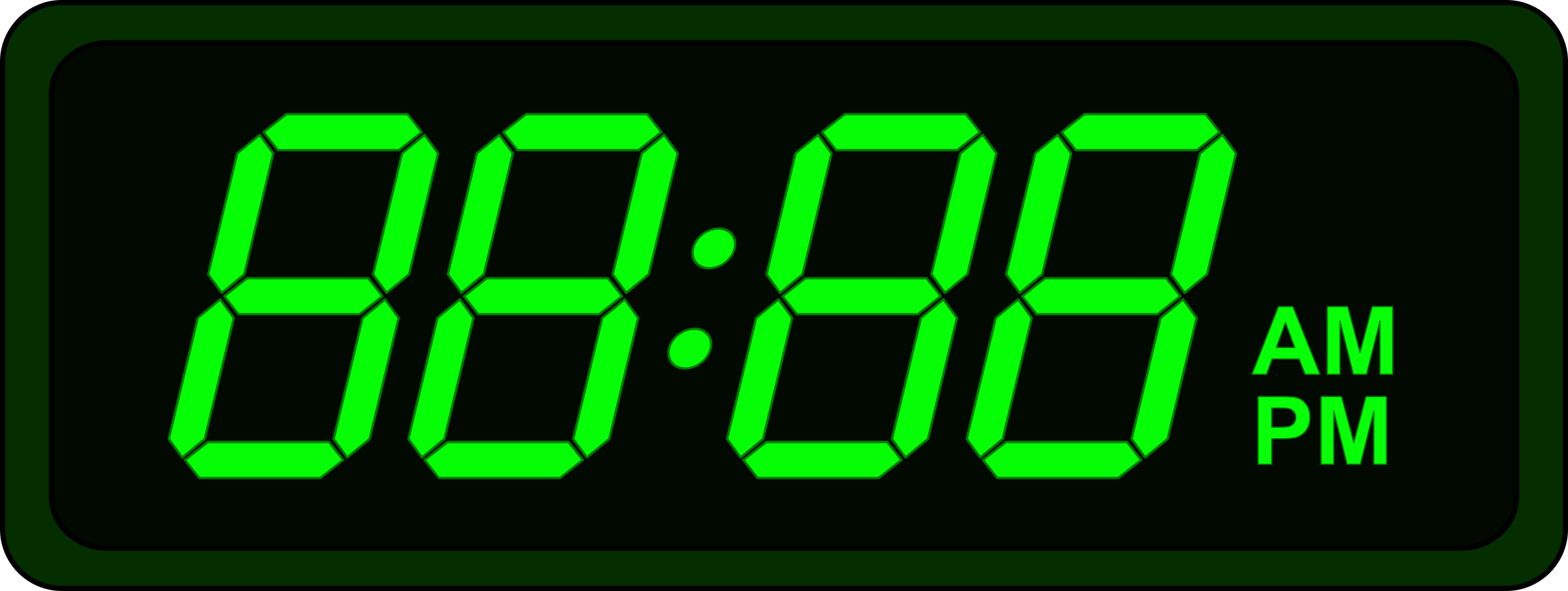 Clipart - Digital Clock
