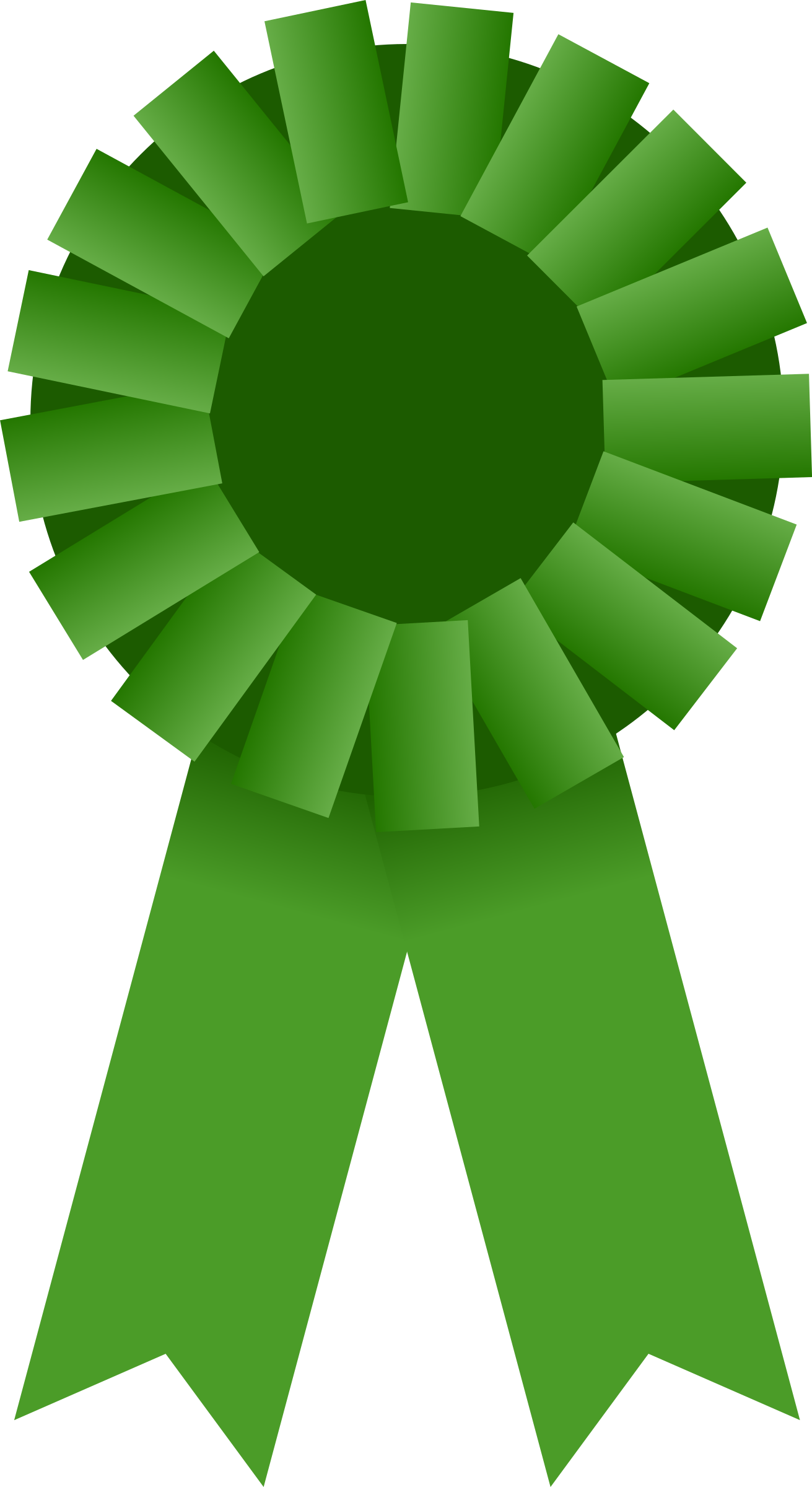 Award Ribbon -- Green by Mirek2