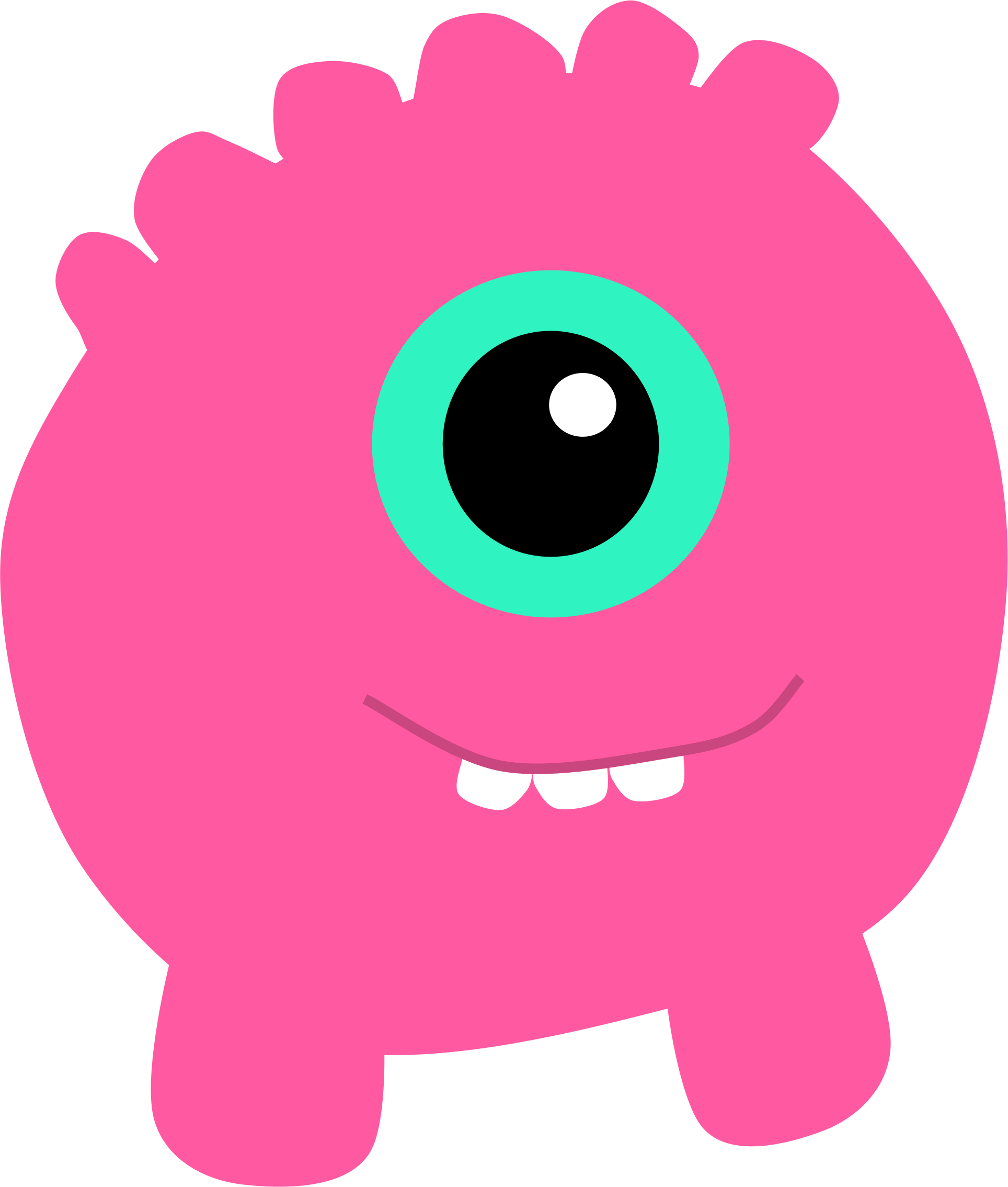 clipart pink monster