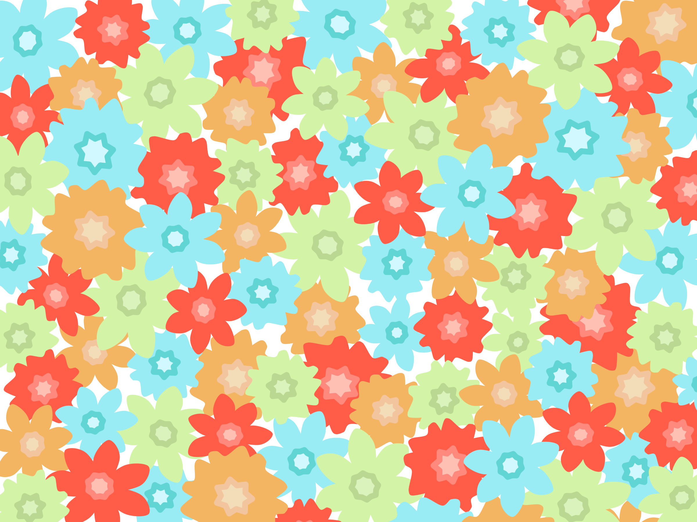 Clipart Flowers Pattern