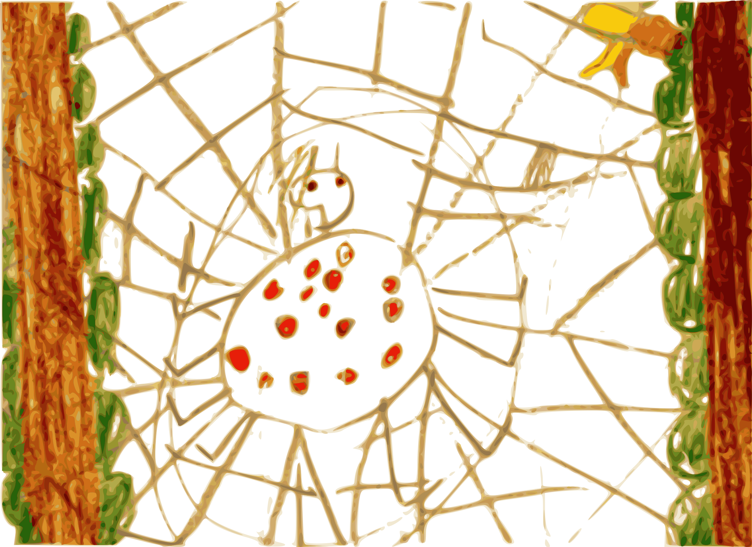 Kindergarten Art Spider by BAJ
