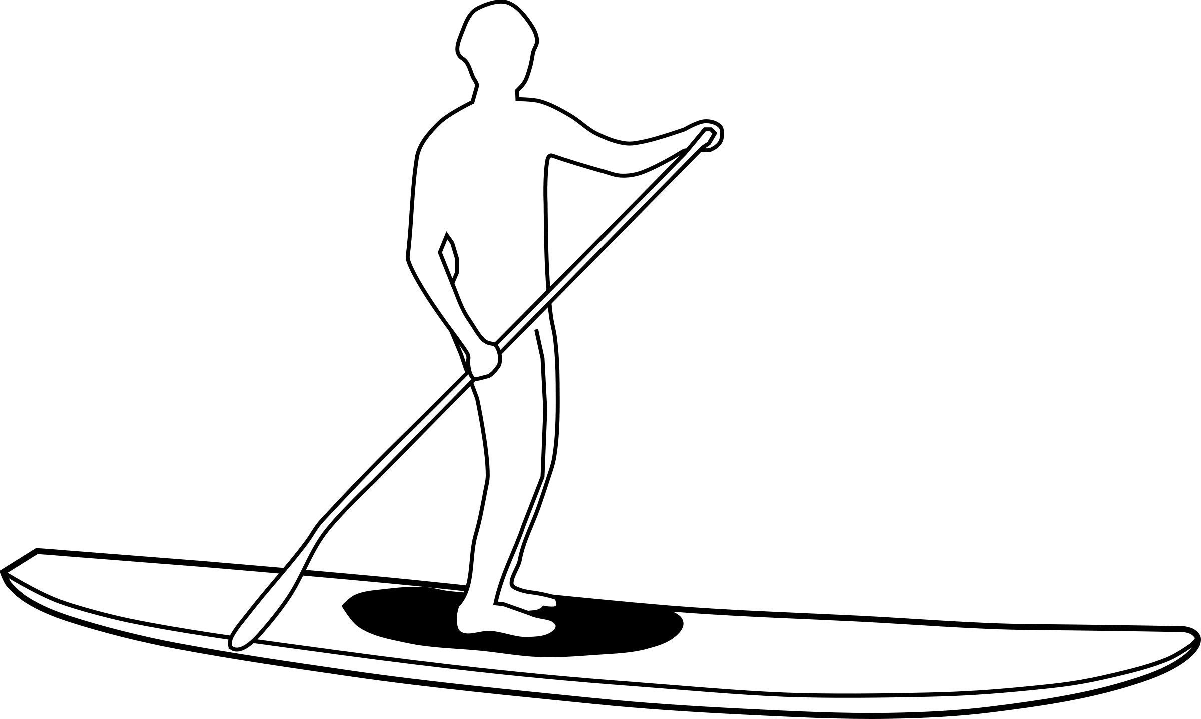 Stand Up Paddleboard Silhouette by Map2Map