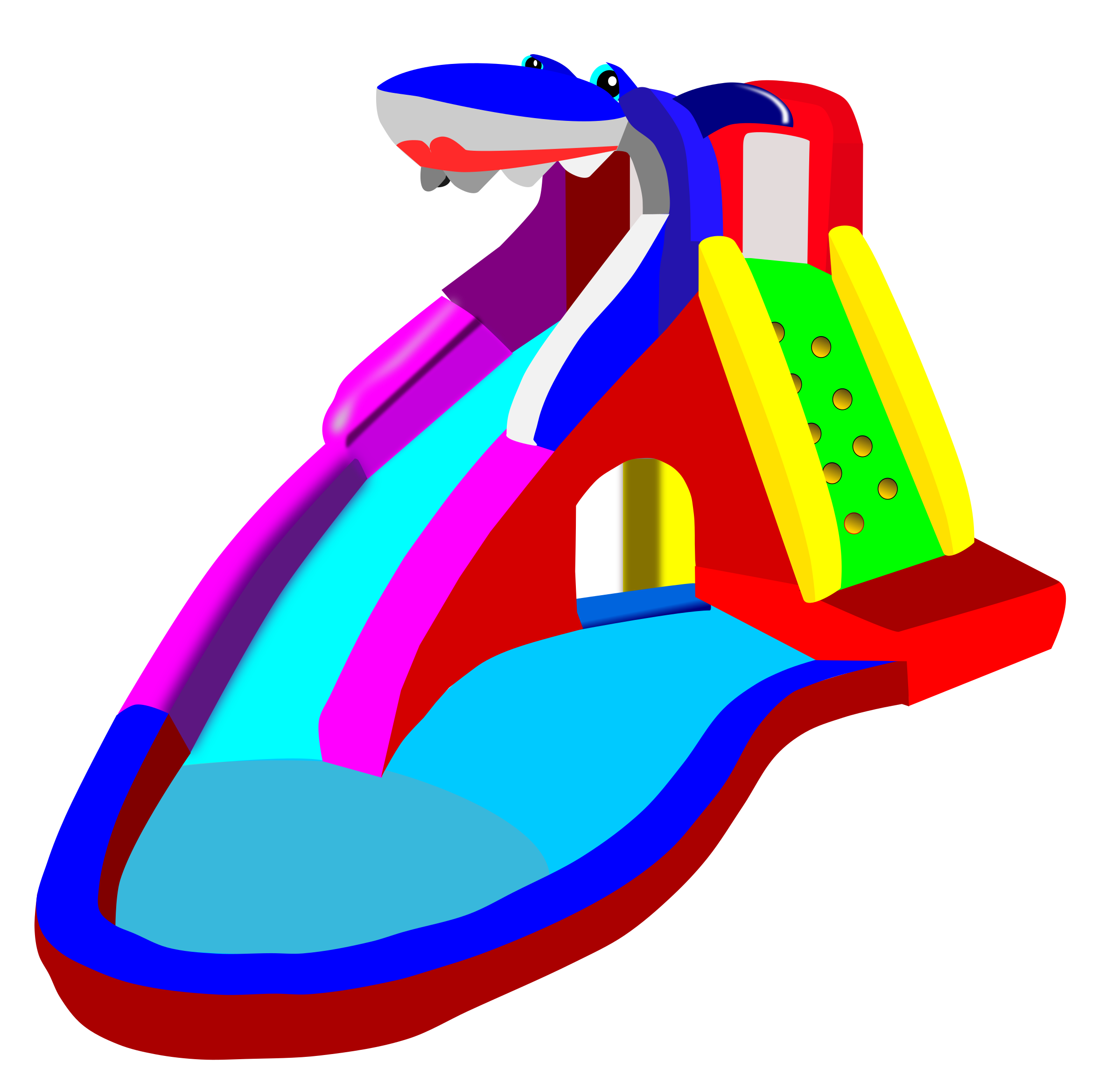 Bouncy Castle - Water Slide - Pool by alanspeak