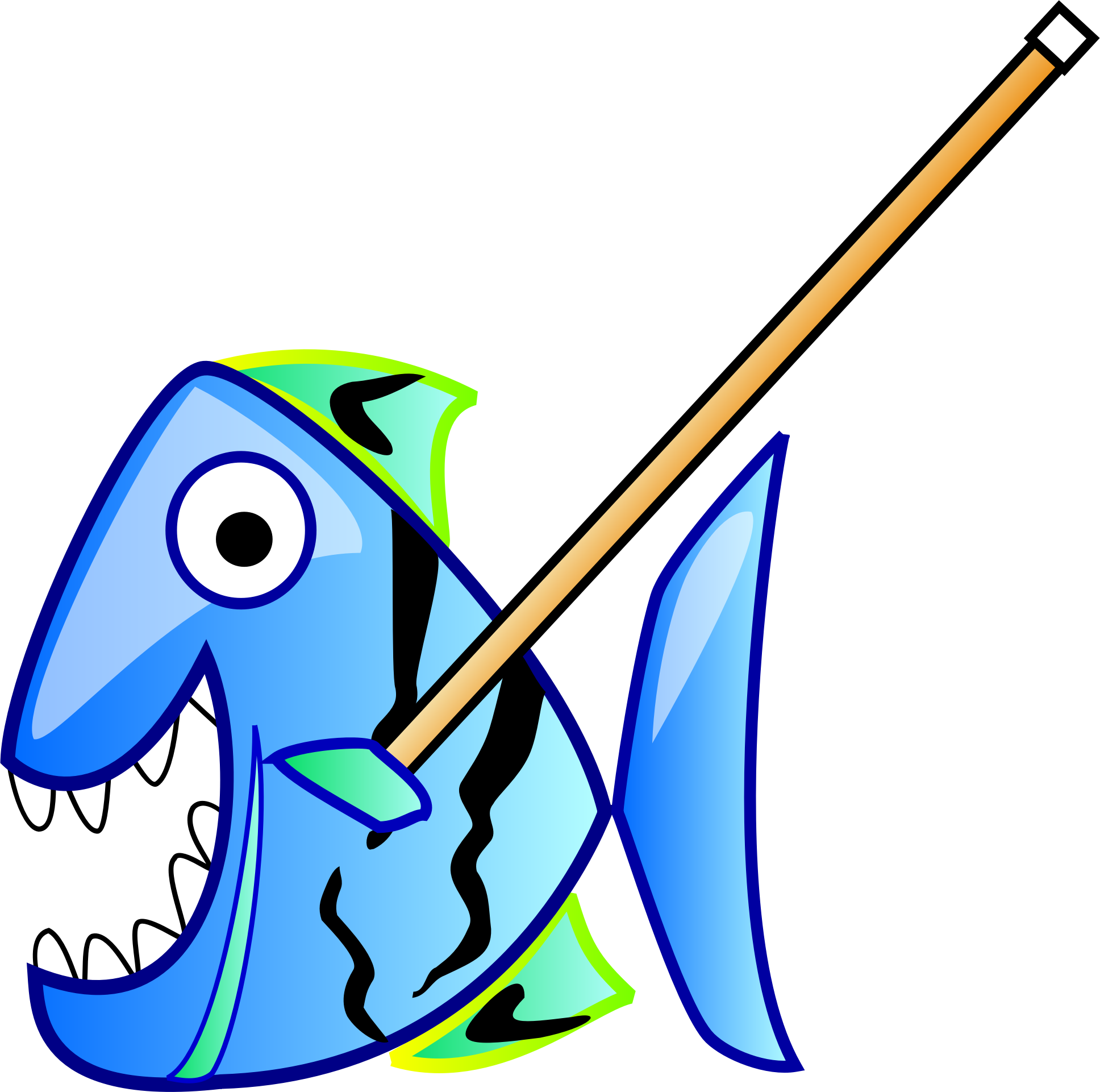 Fish with Pointer by ruthirsty