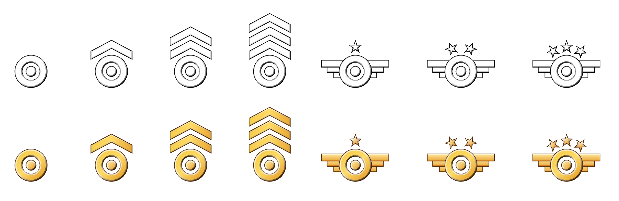 Military Badges by sirgazil