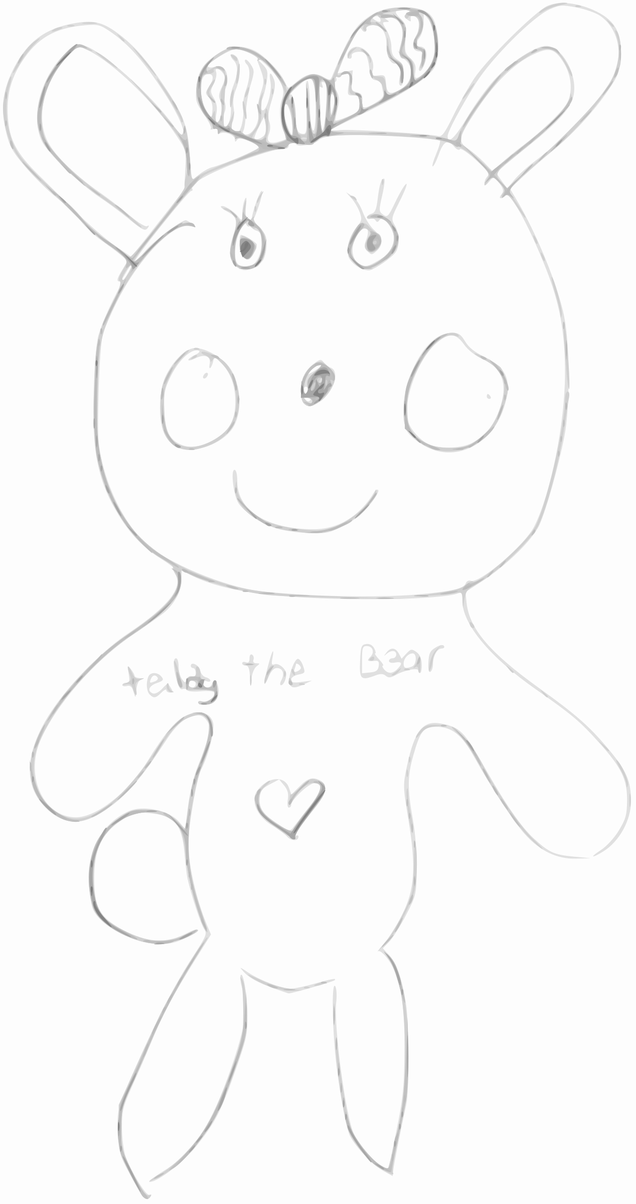 Kindergarten Art Teddy the Bear by BAJ