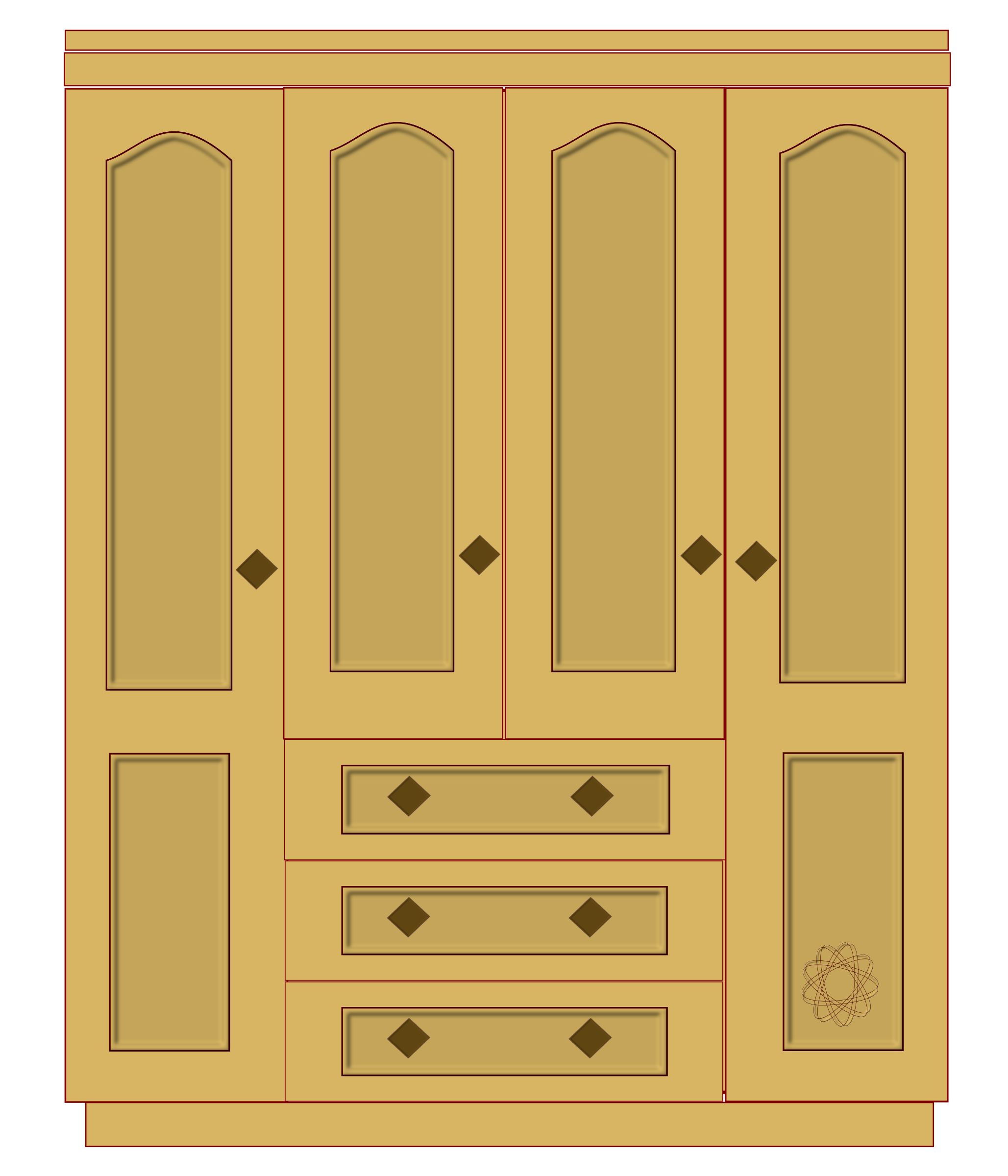 Garderobe clipart  Wood Cupboard Clip Art – Clipart Free Download