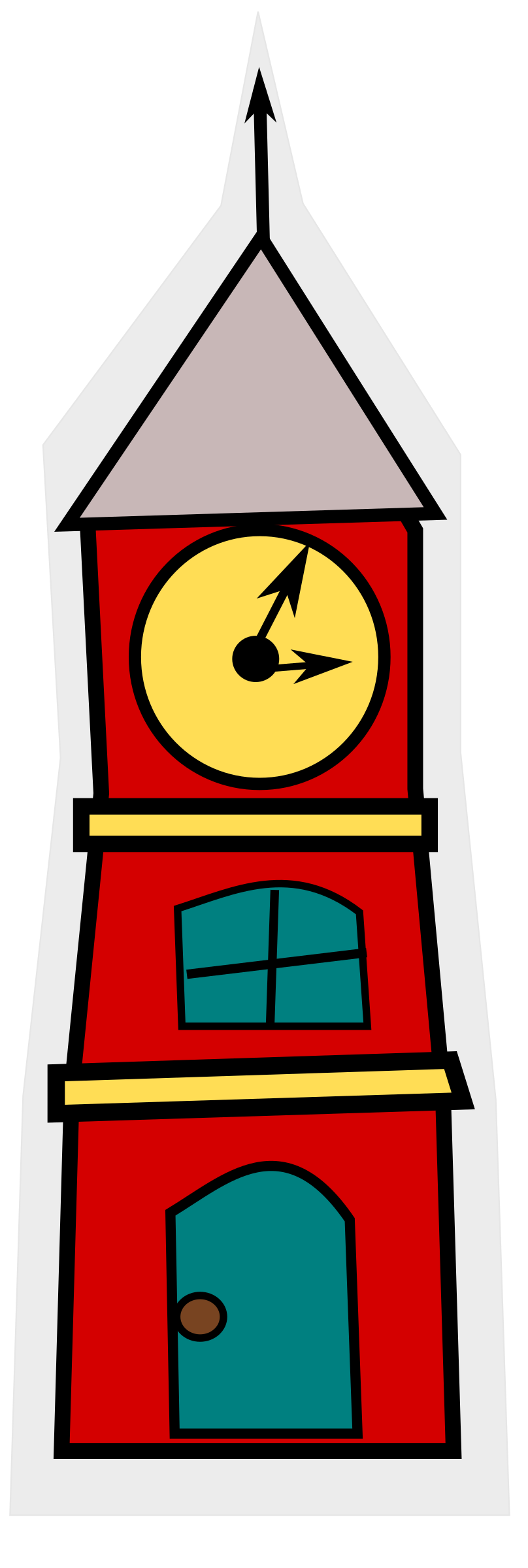 cartoon_tower with a clock by loveandread