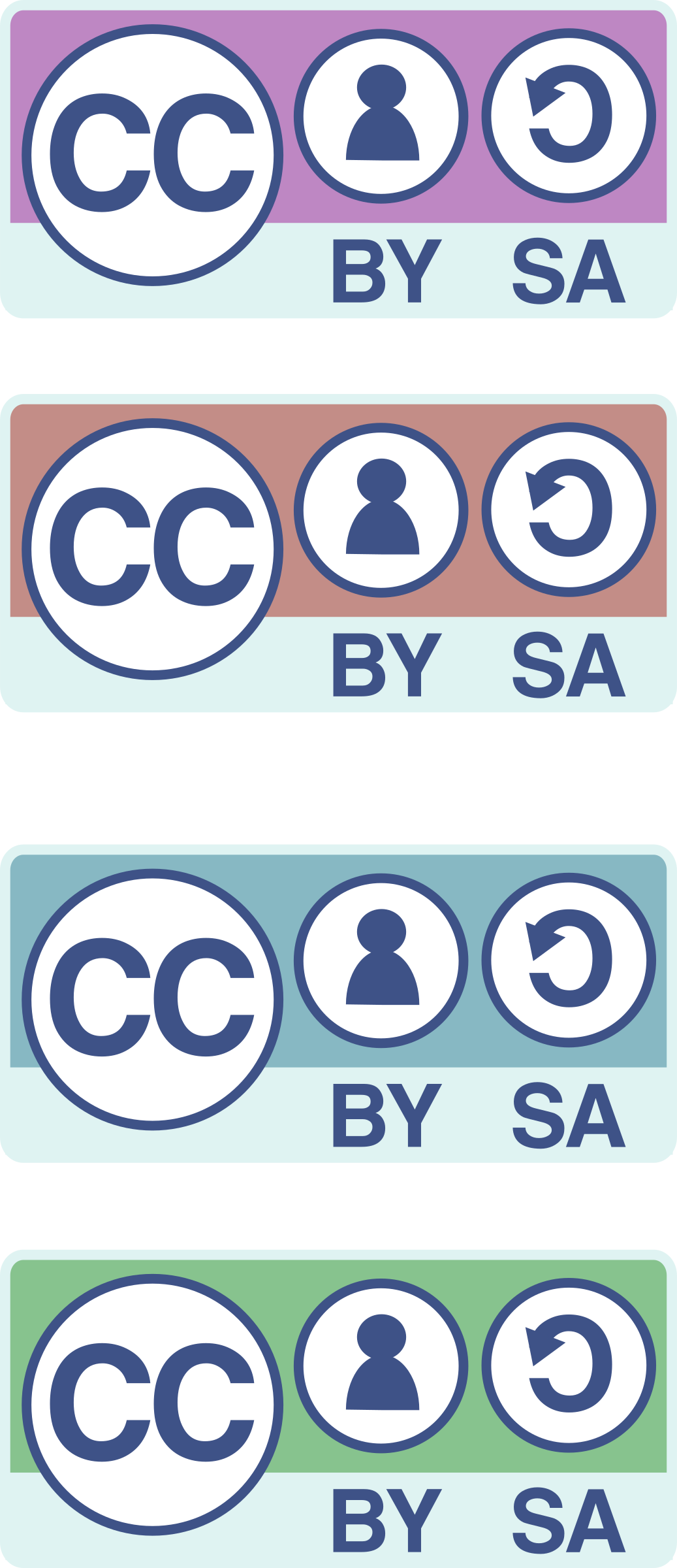 CC-BY-SA badges  by anarres