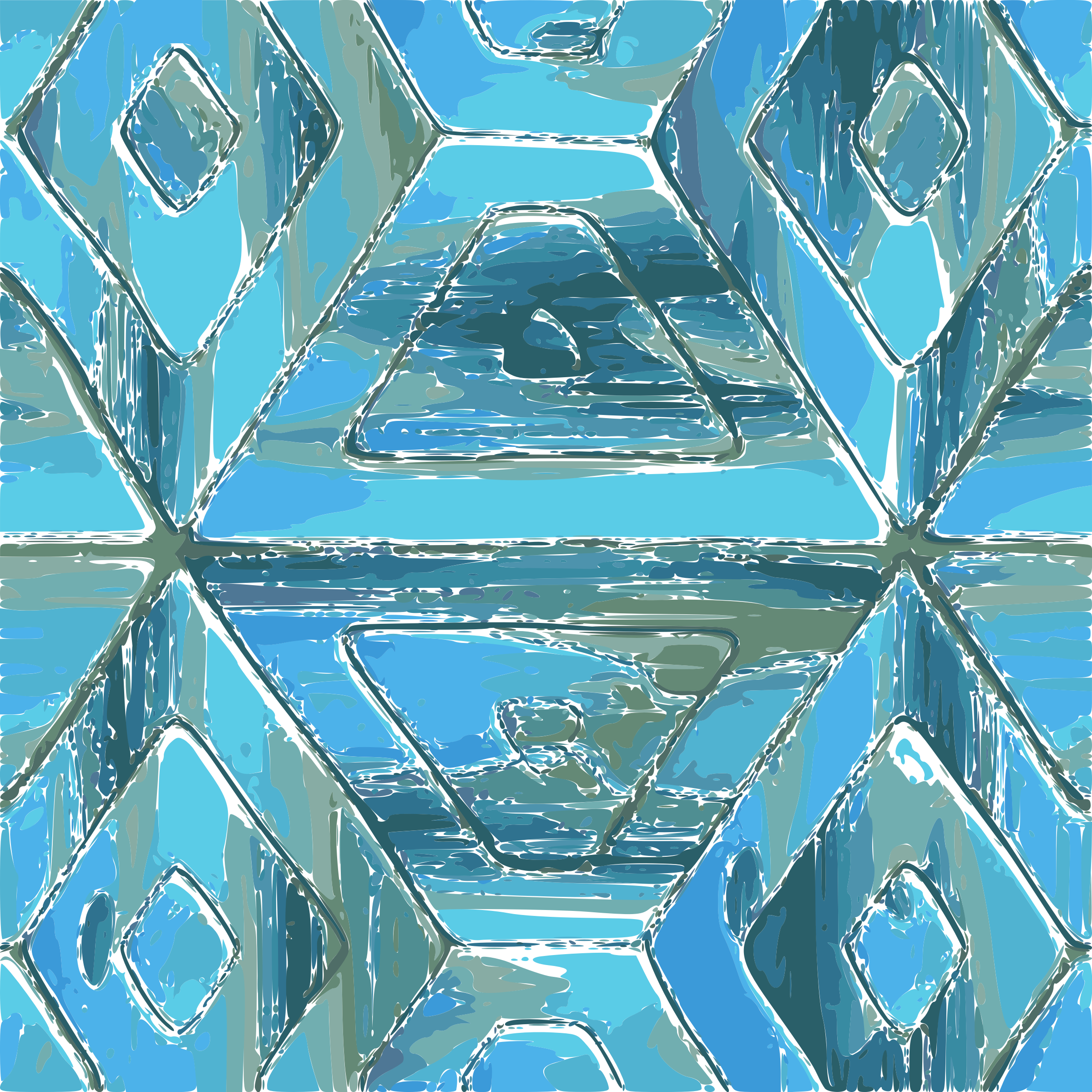 Turquoise Tile Pattern by username_Its_me
