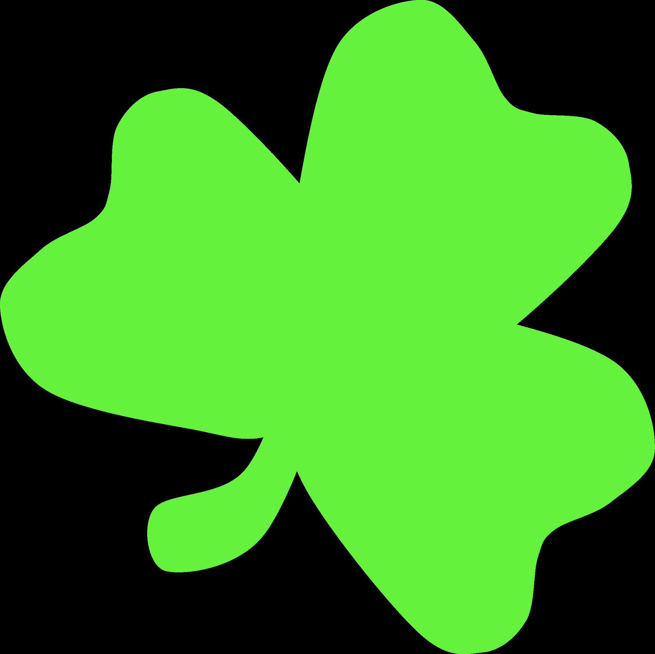 clipart light green shamrock