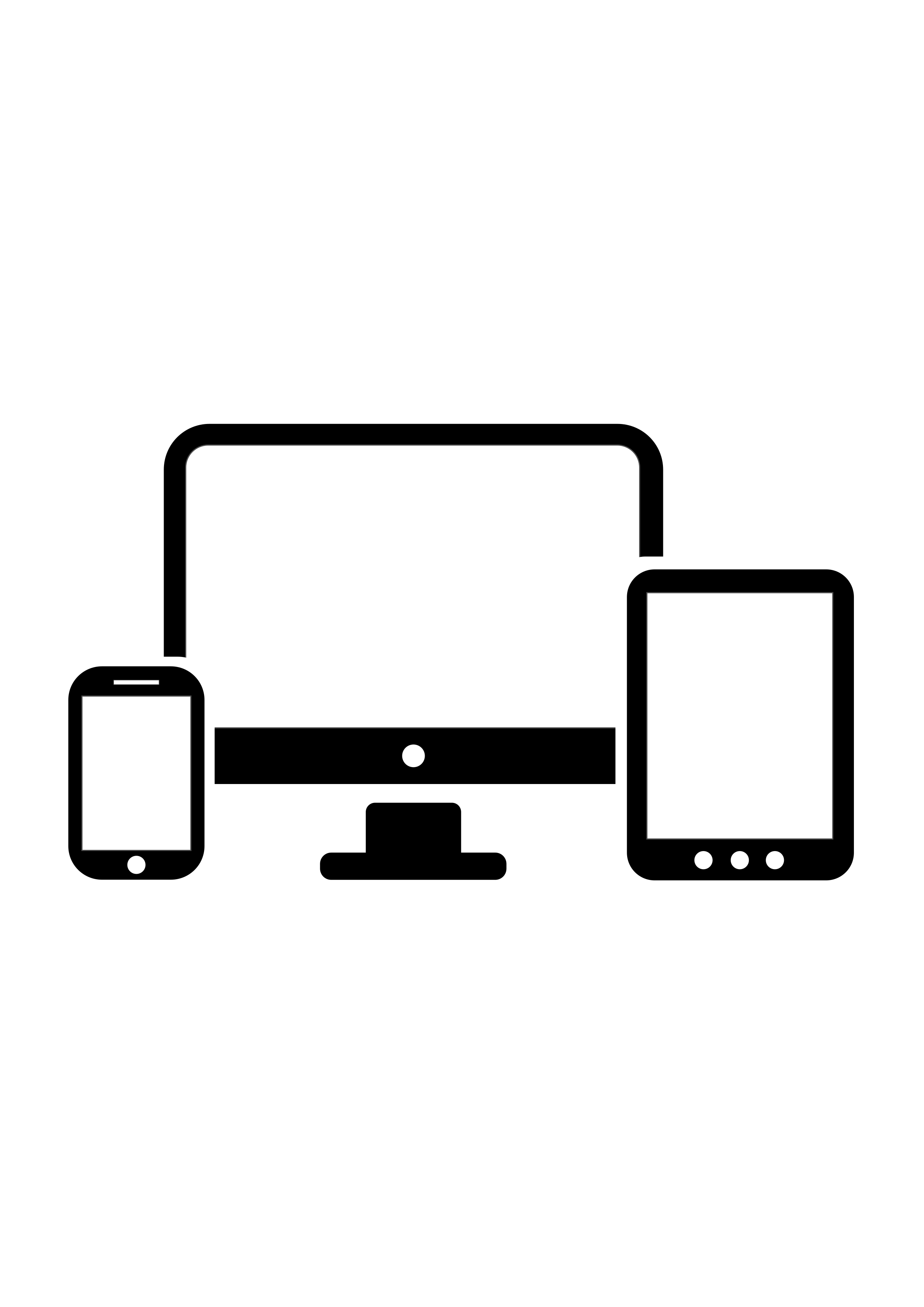 Clipart - Computer Smartphone and Tablet