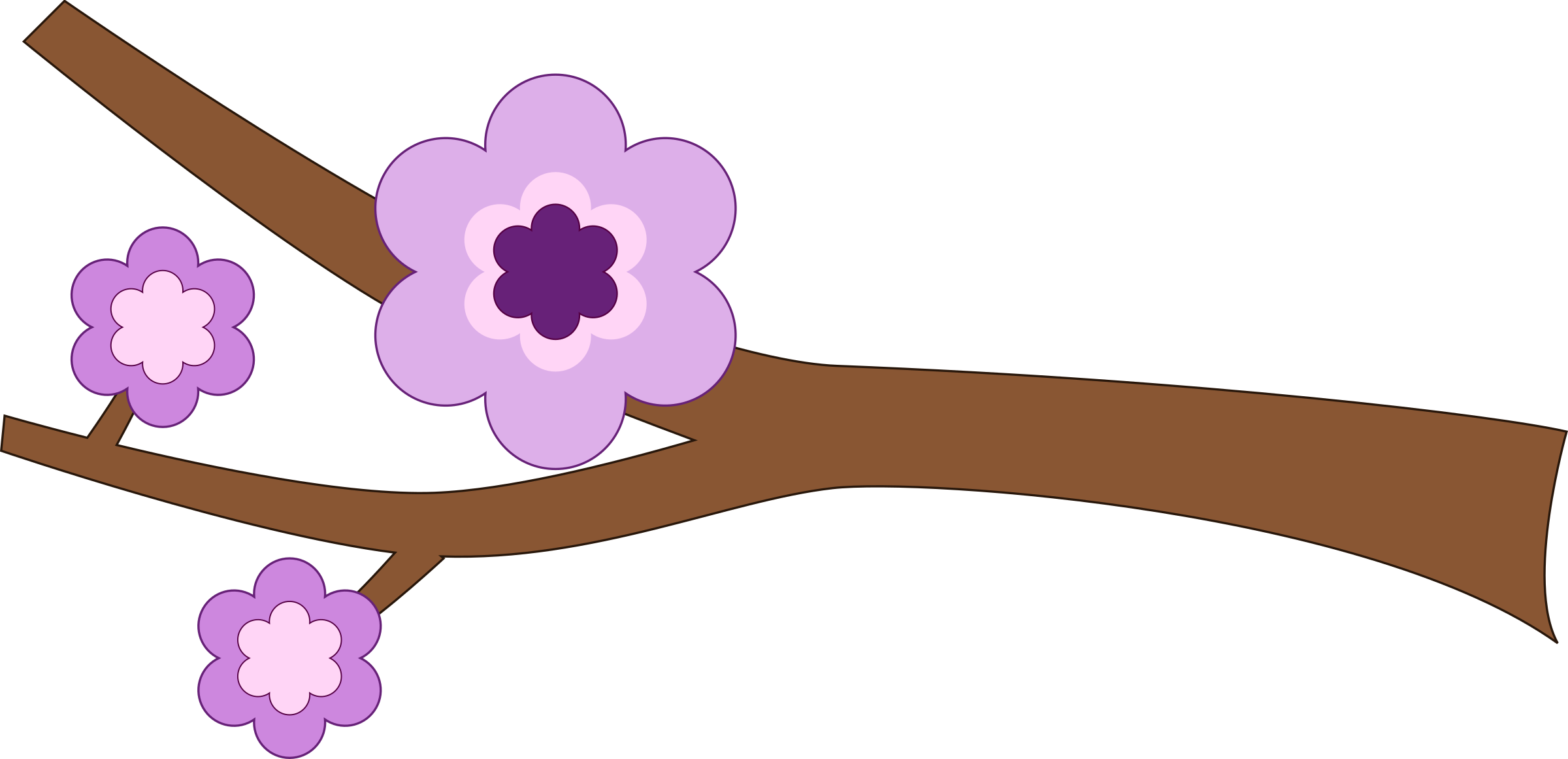 Purple Flower Longer branch by snydergd