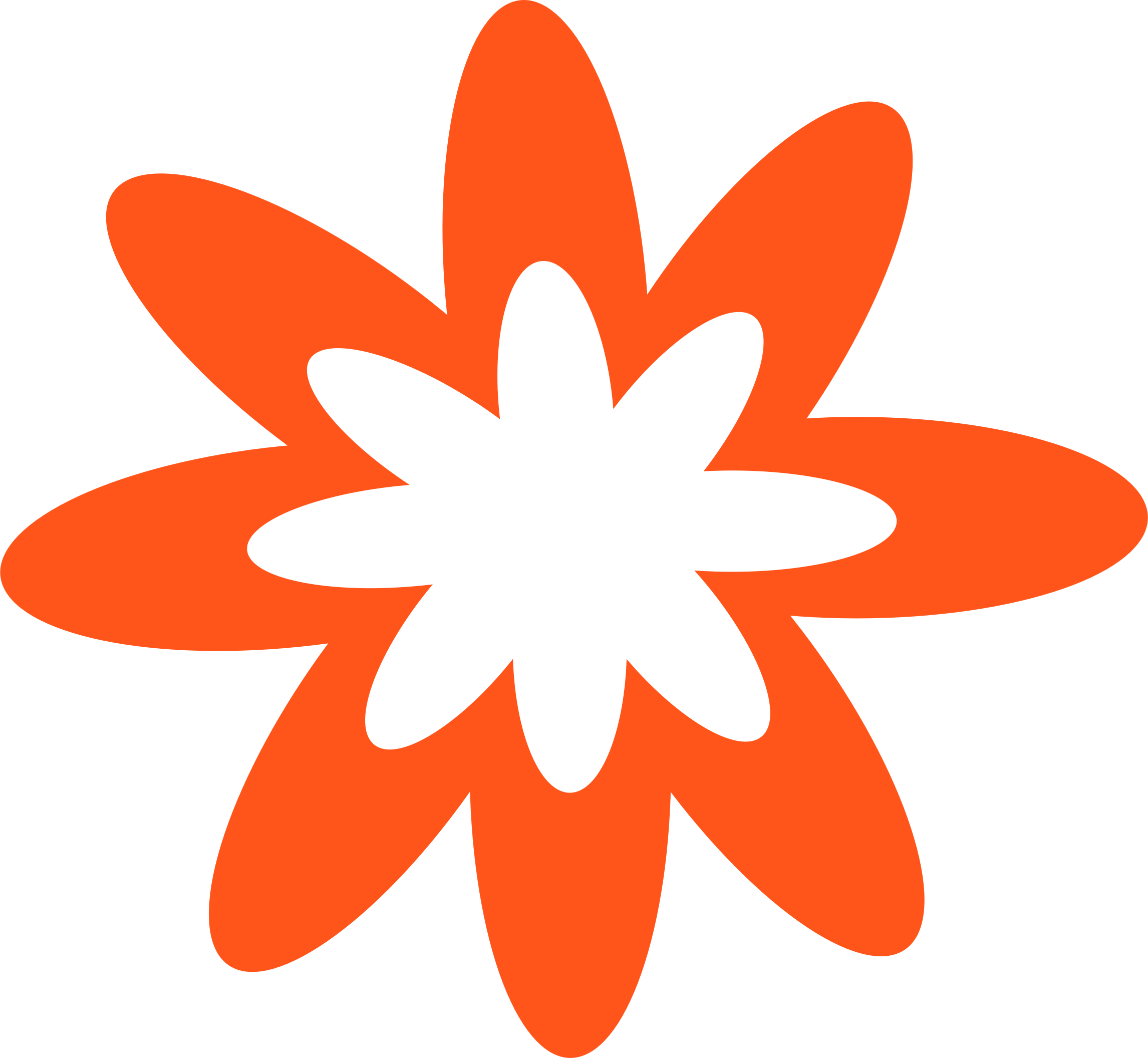 Dark Orange Burst Flower  by Scout