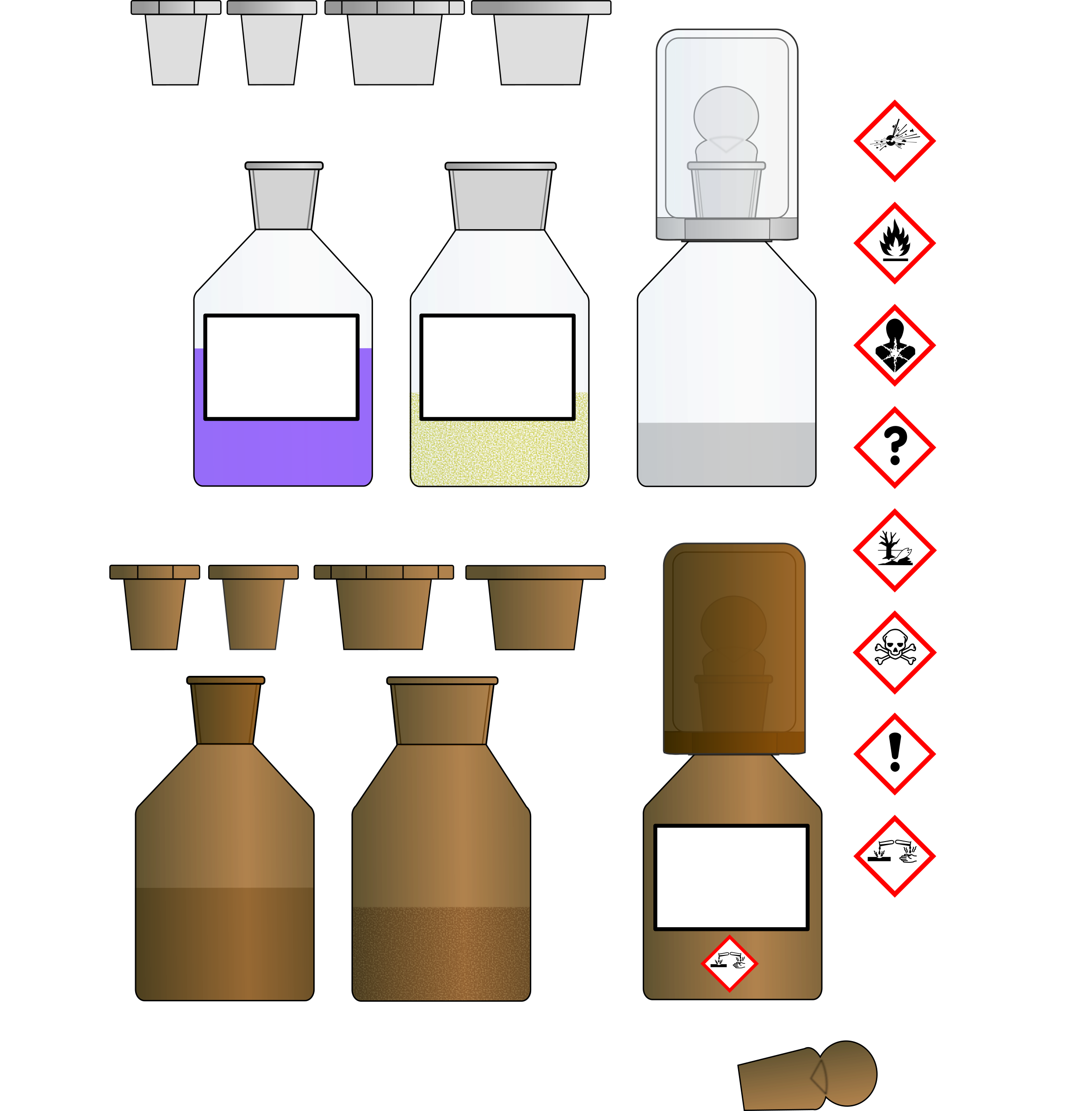 Chemikalien Flaschen/Chemical bottles by B.Lachner