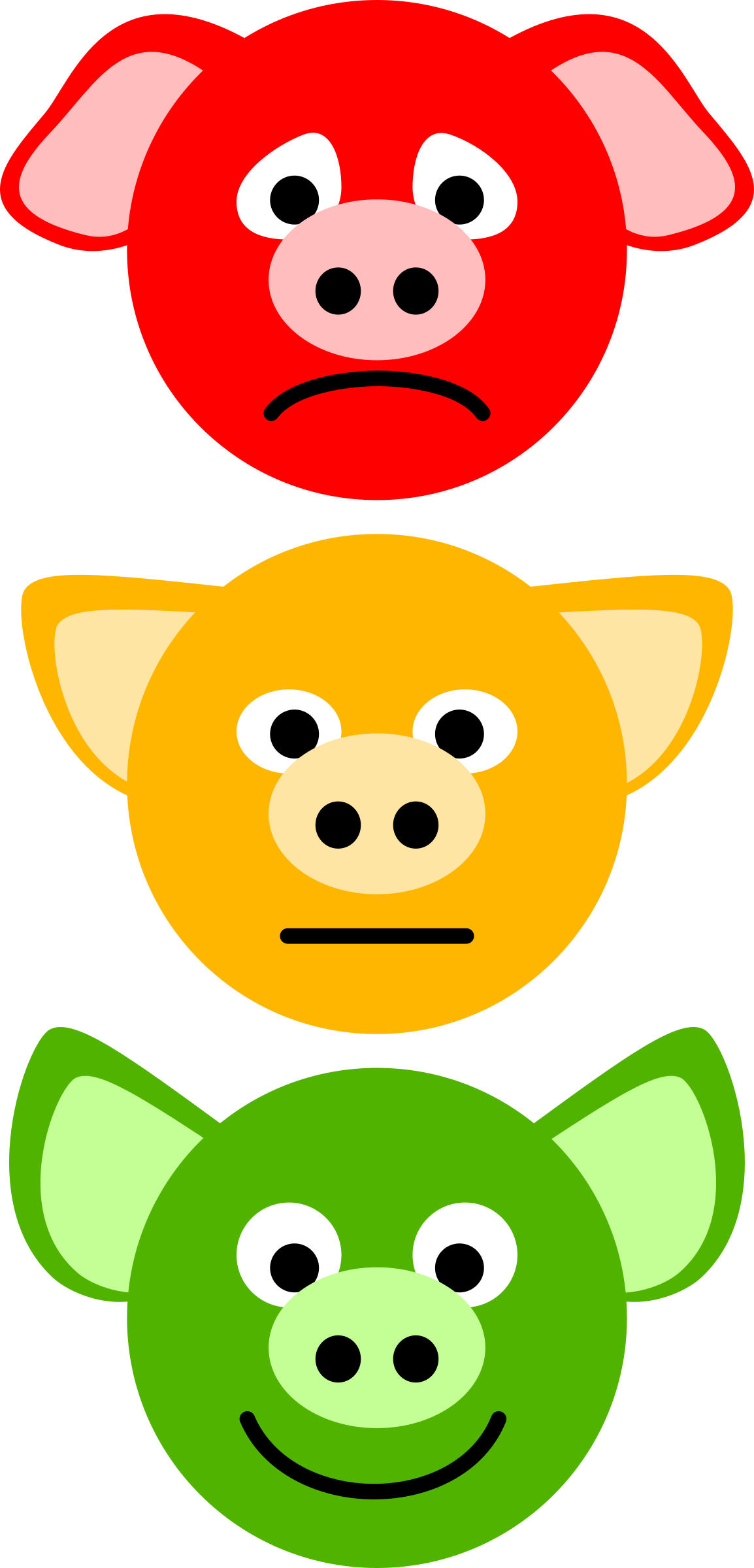 Pig Traffic Lights by Onsemeliot