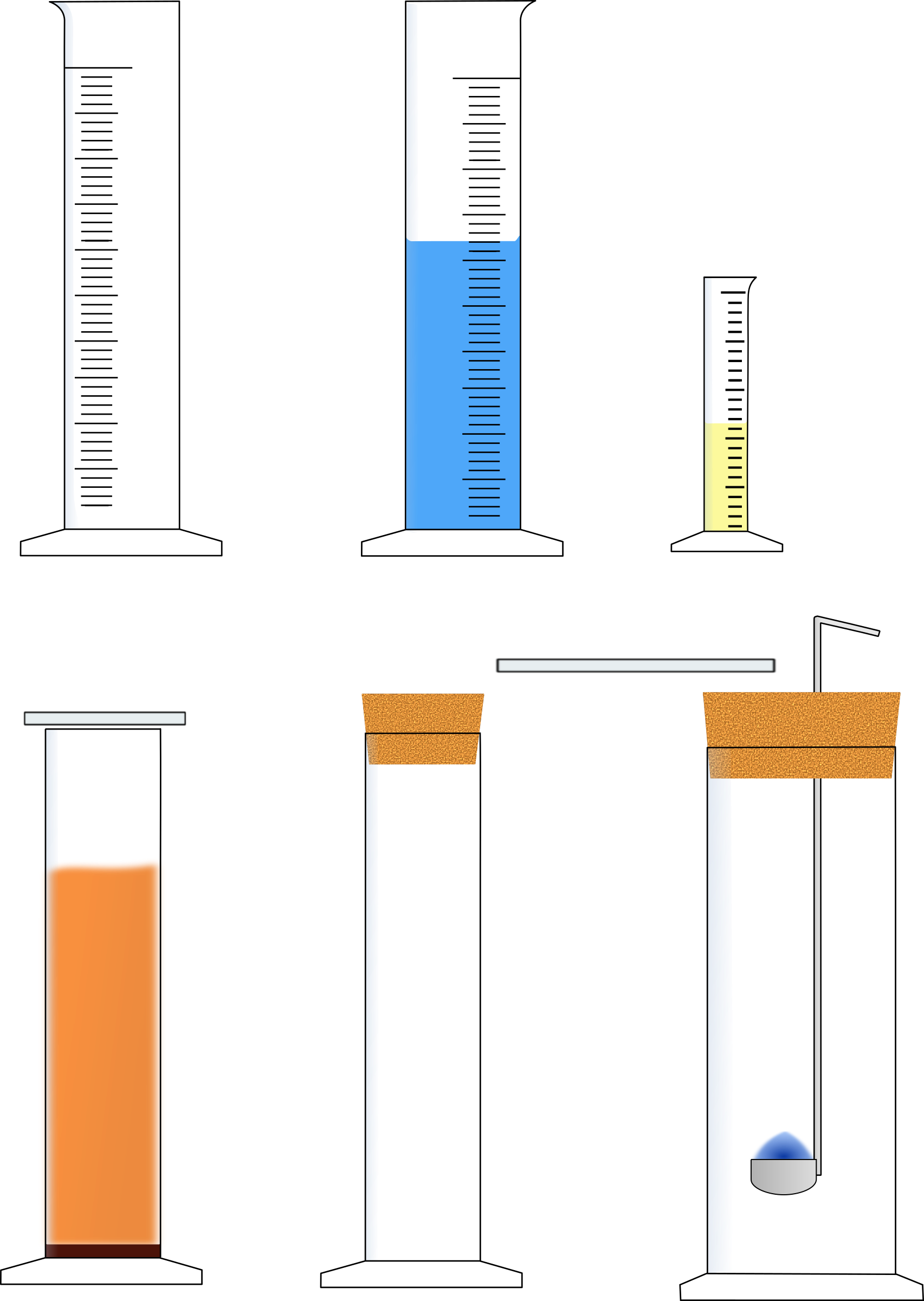 Stand- und Meßzylinder erweitert / Measuring cylinder with equipment by B.Lachner