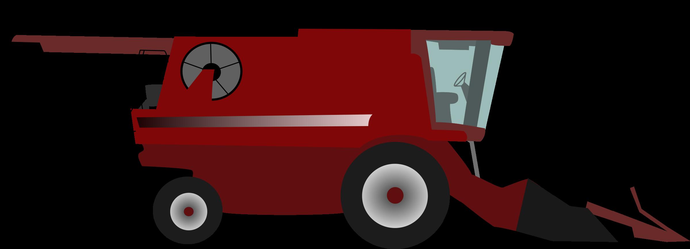 Farm Equipment Clip Art : Clipart combine harvester