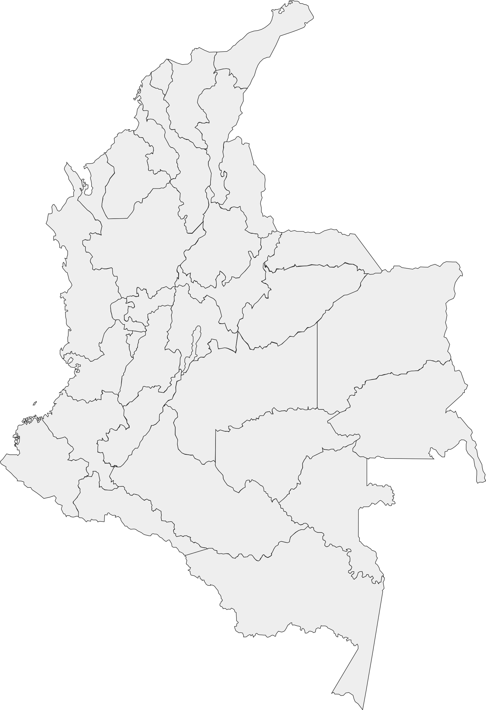 Administrative divisions of Colombia by claudita