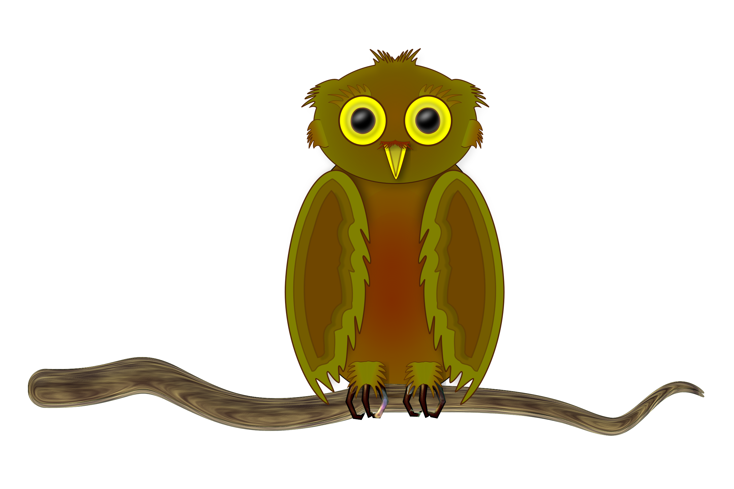 Owl on a Branch by Greg.M