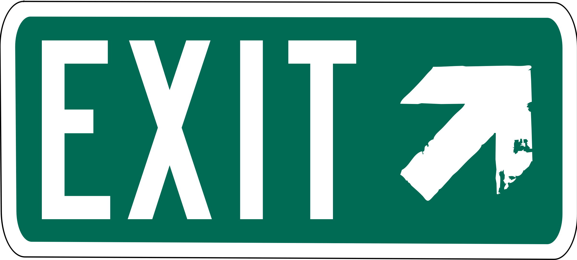 clipart interstate exit