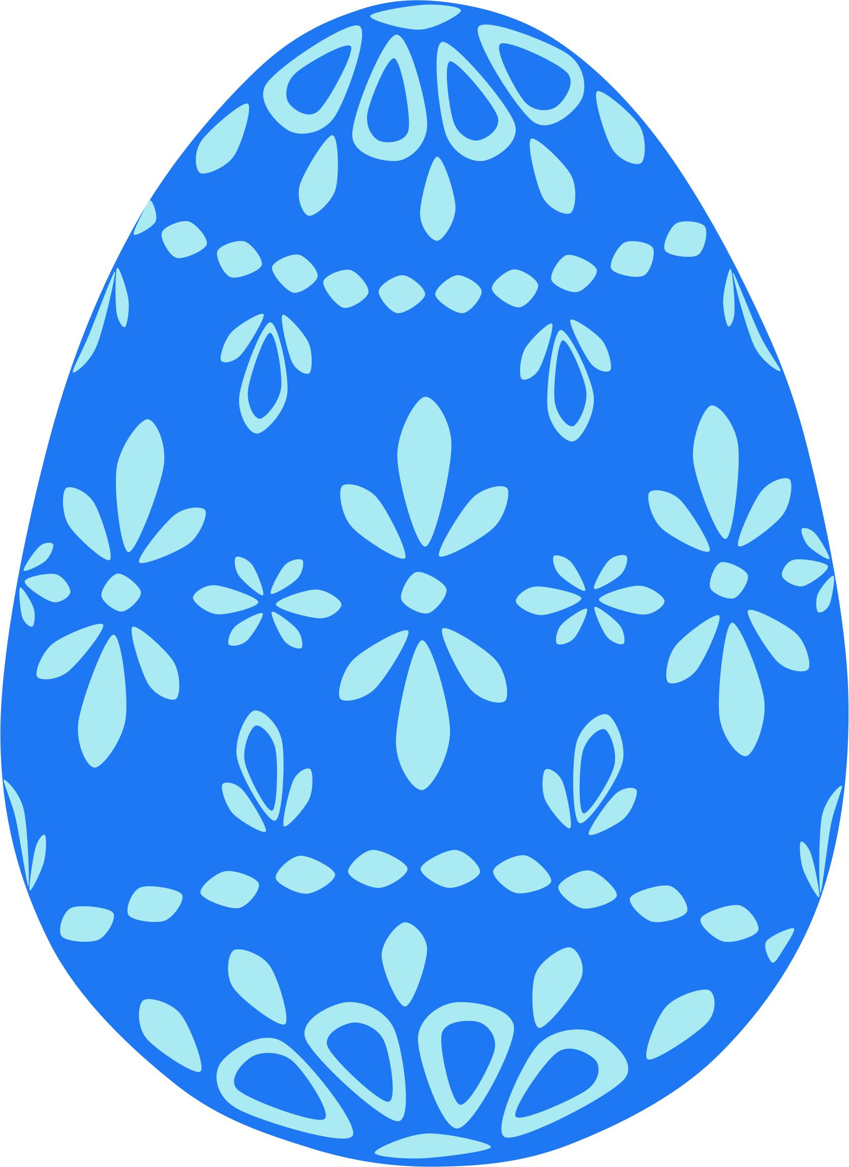 Blue Lace Easter Egg by Scout