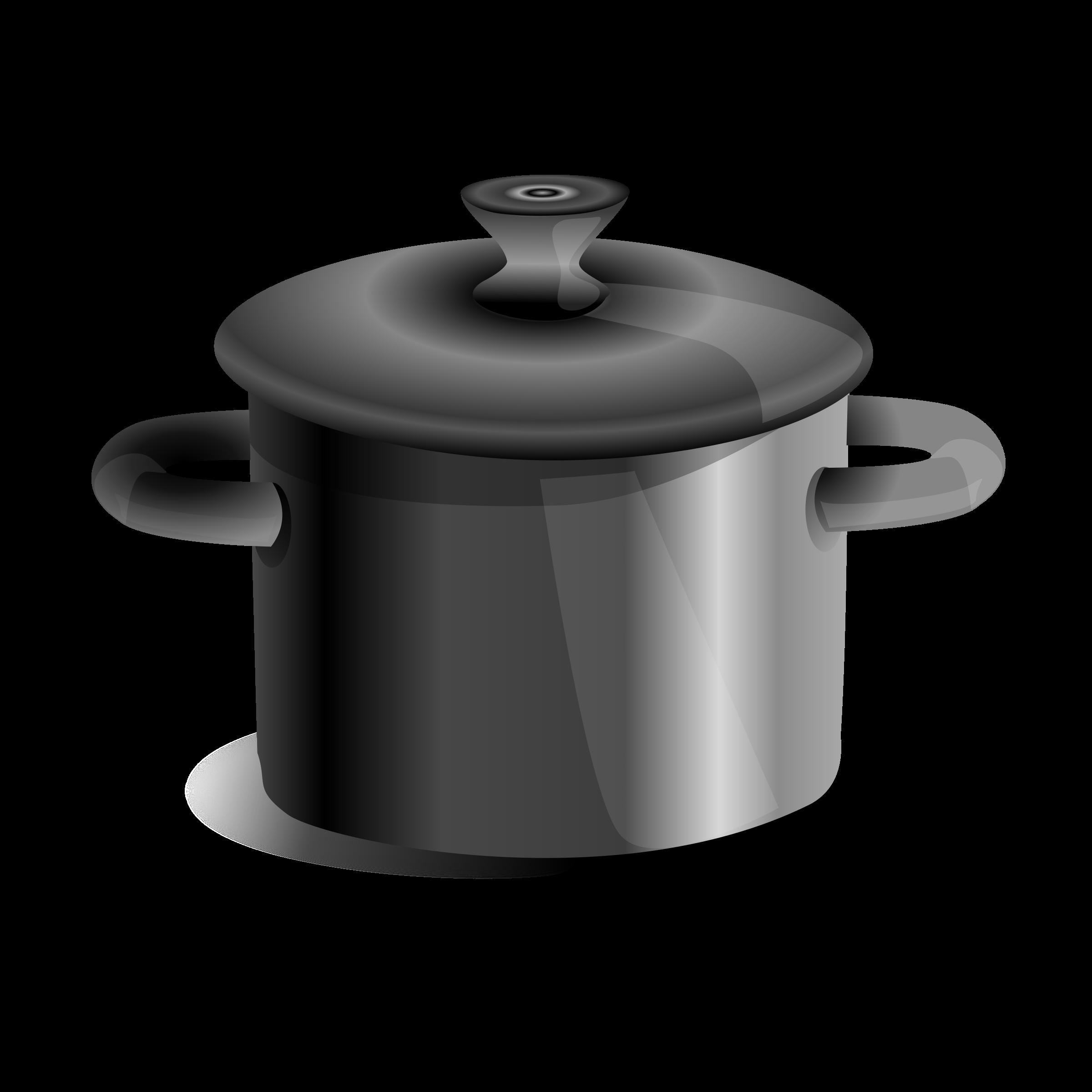 Clipart iron pot iron pat olla de acero metalica para - Olla para cocinar ...