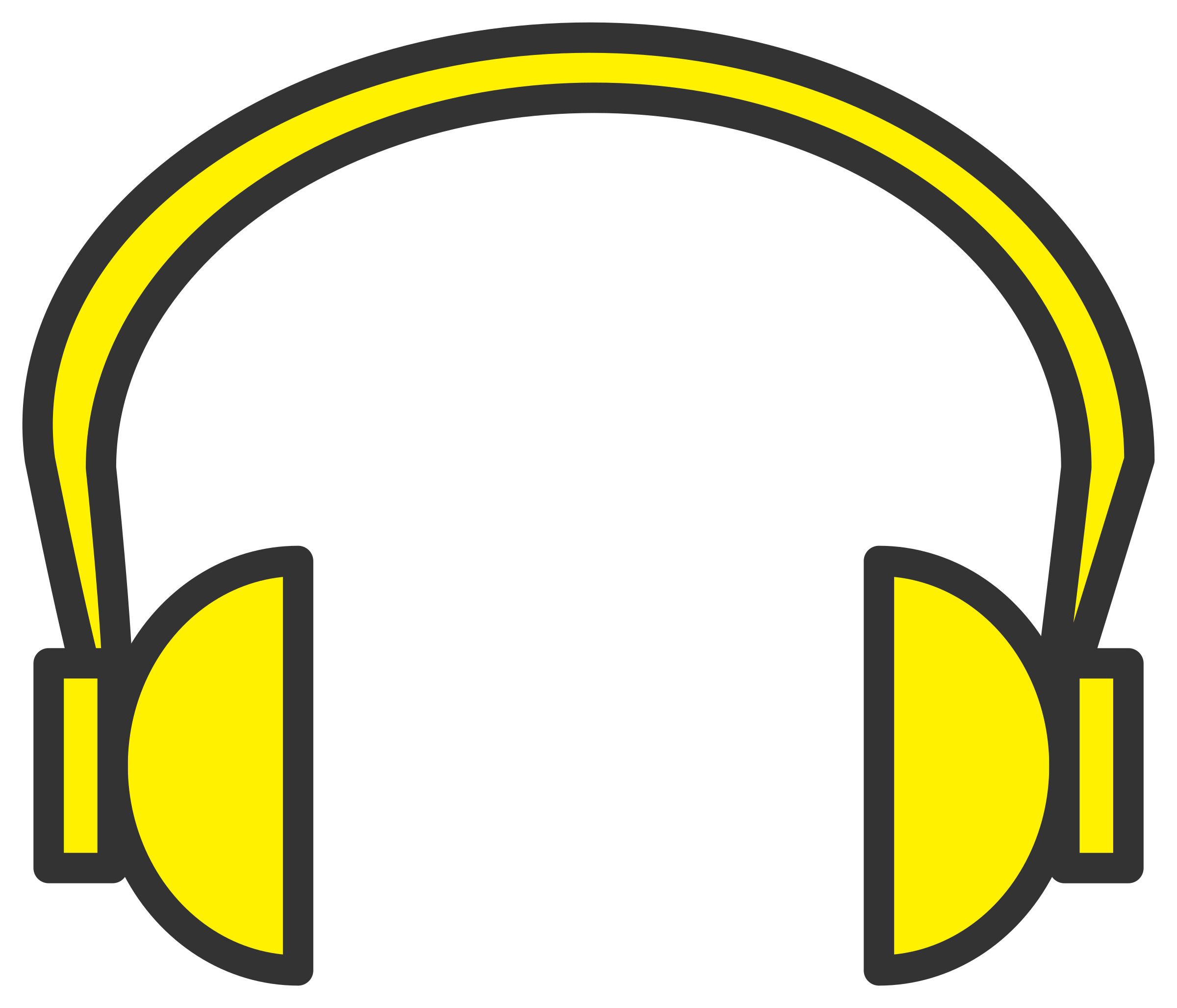 yellow headphone by Fabuio