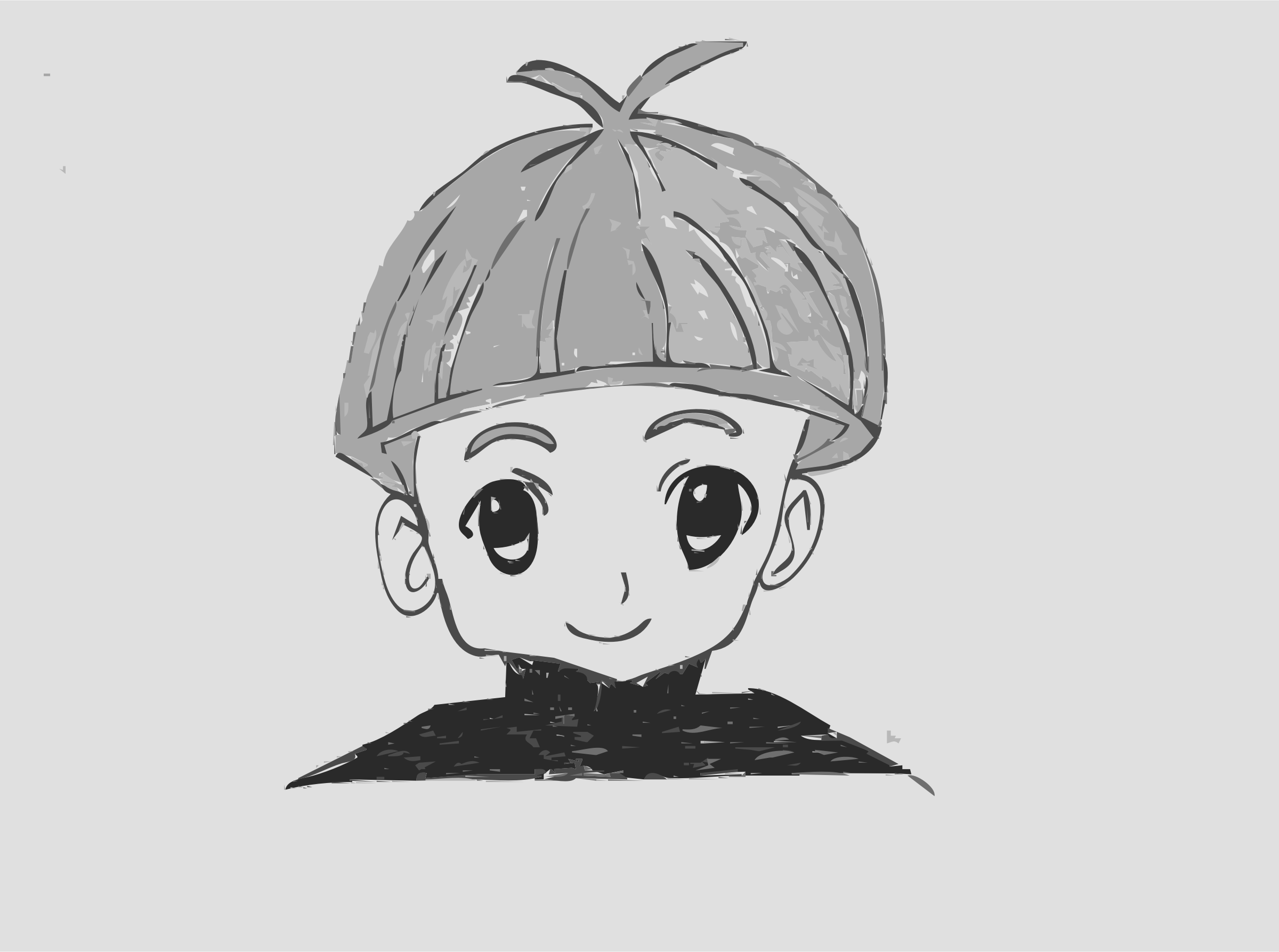 Small Manga Boy by martinaledermann