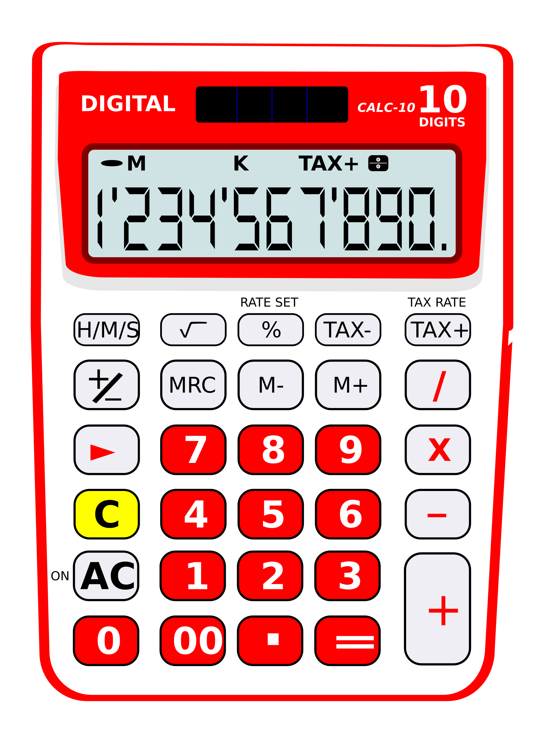 Calculator 10 digits solar by agomjo