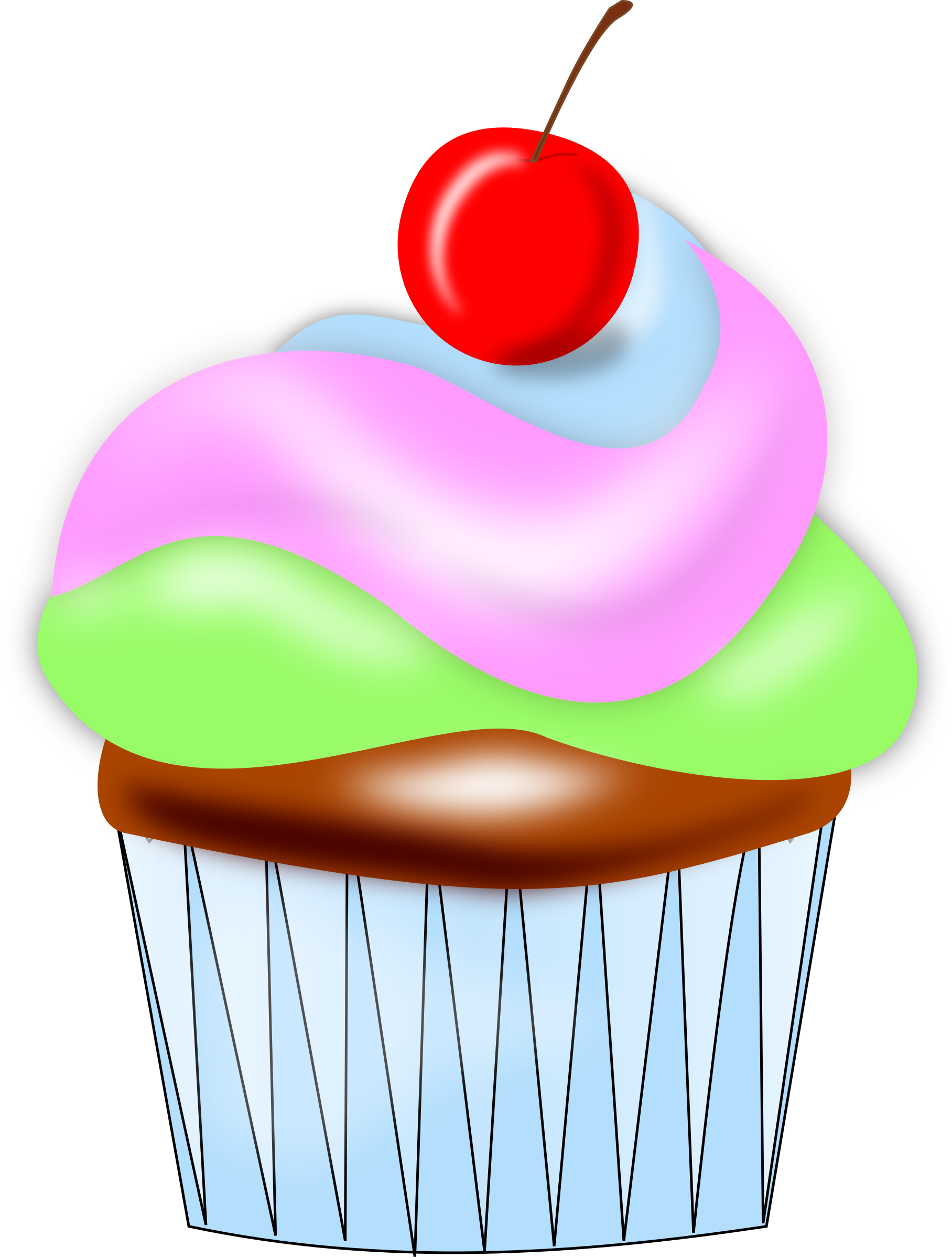 Cupcake w cherry by aburgan