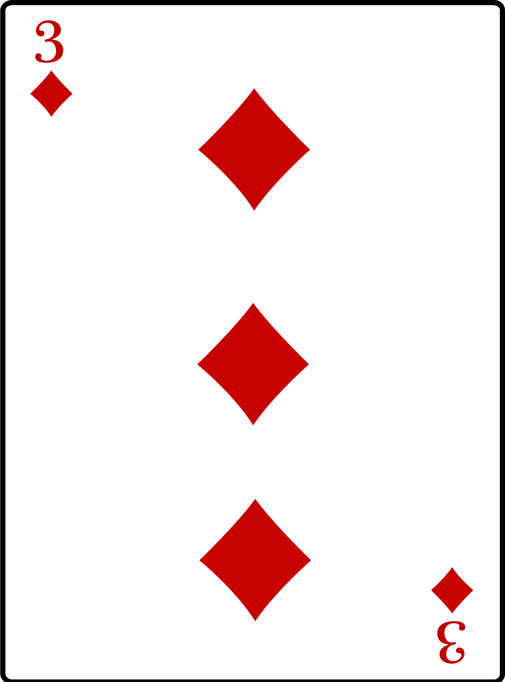 Clipart - 3 of Diamonds