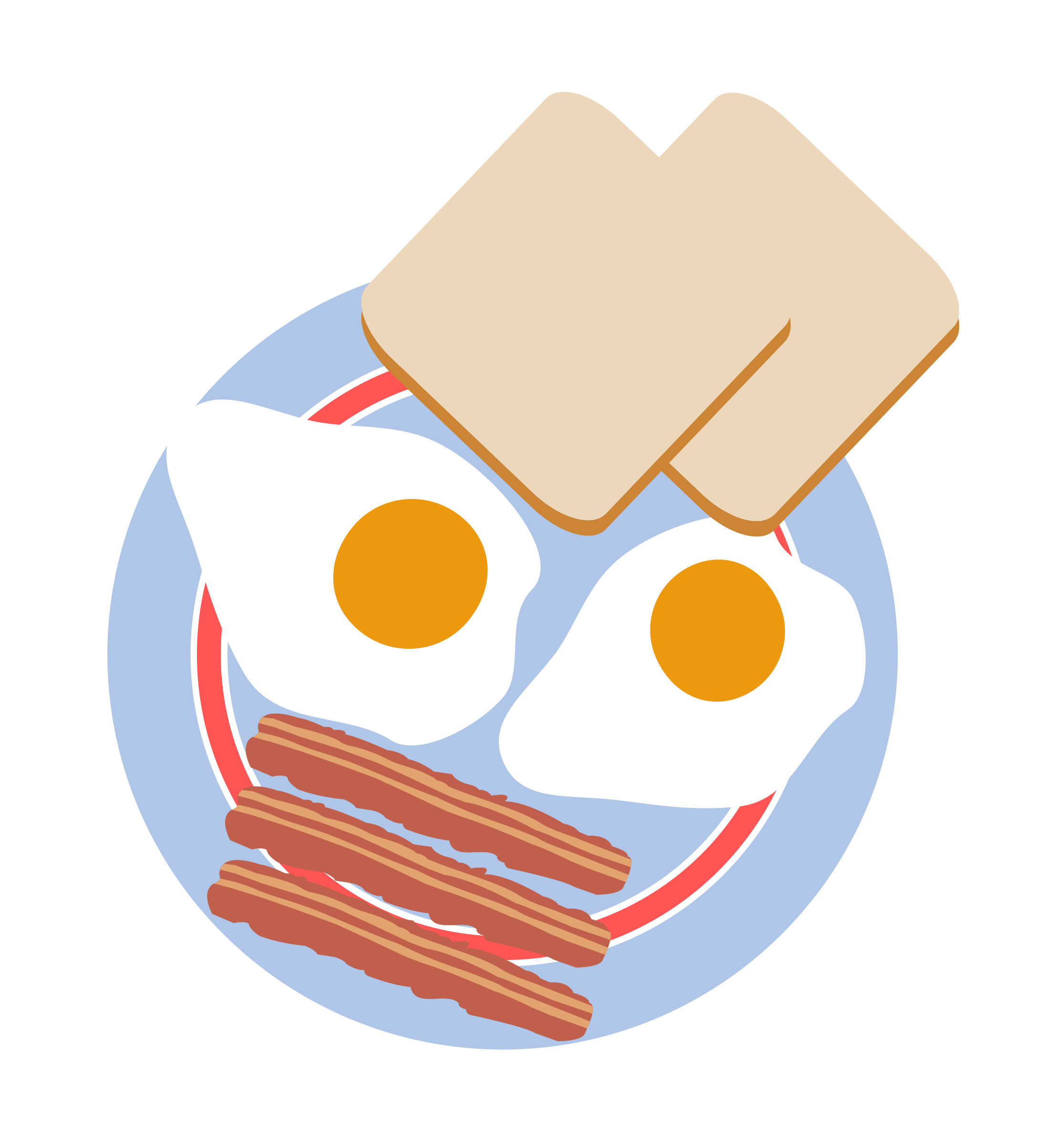 Bull's eye eggs with toast and bacon by agomjo