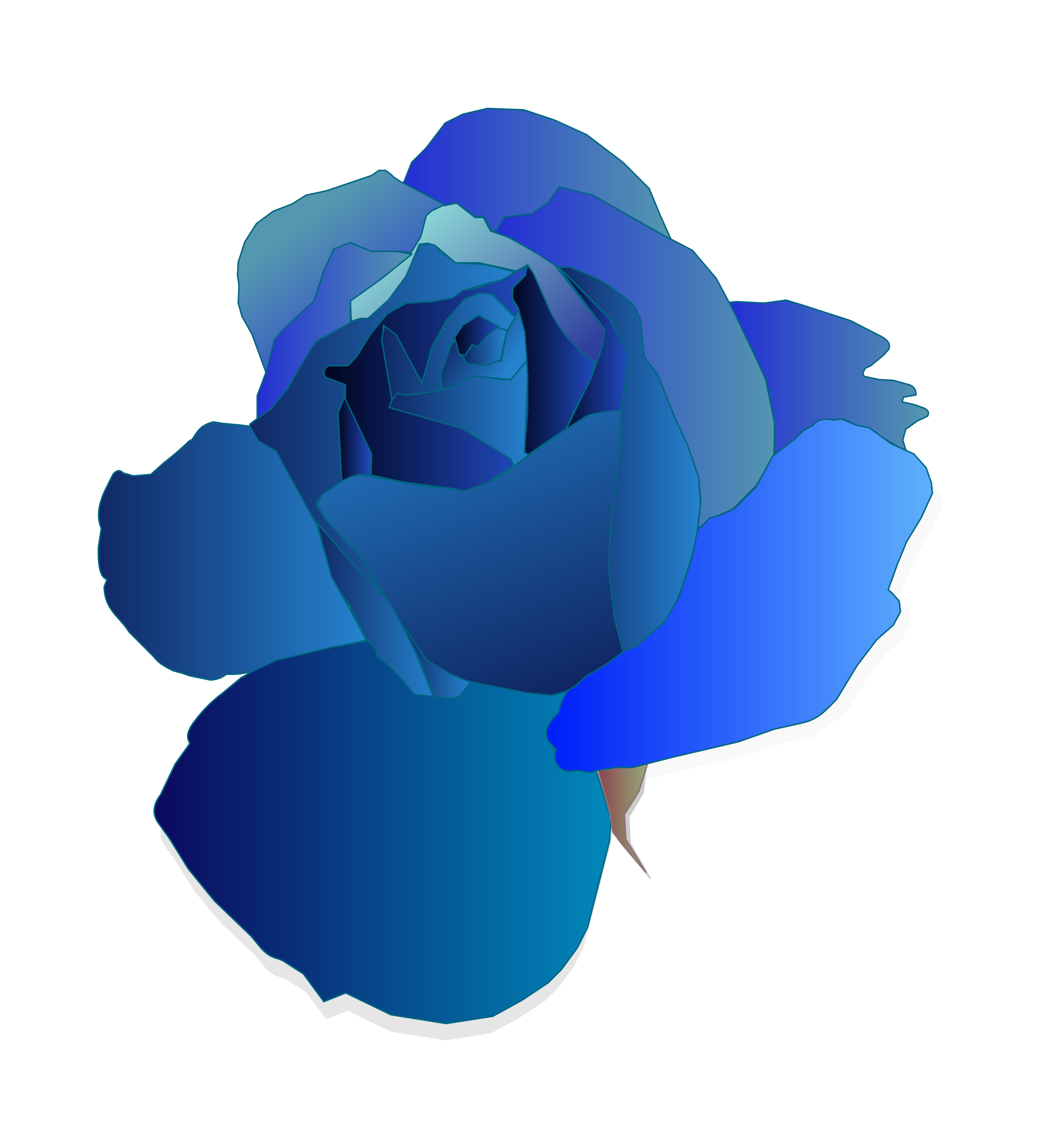 Blue Rose by mirys
