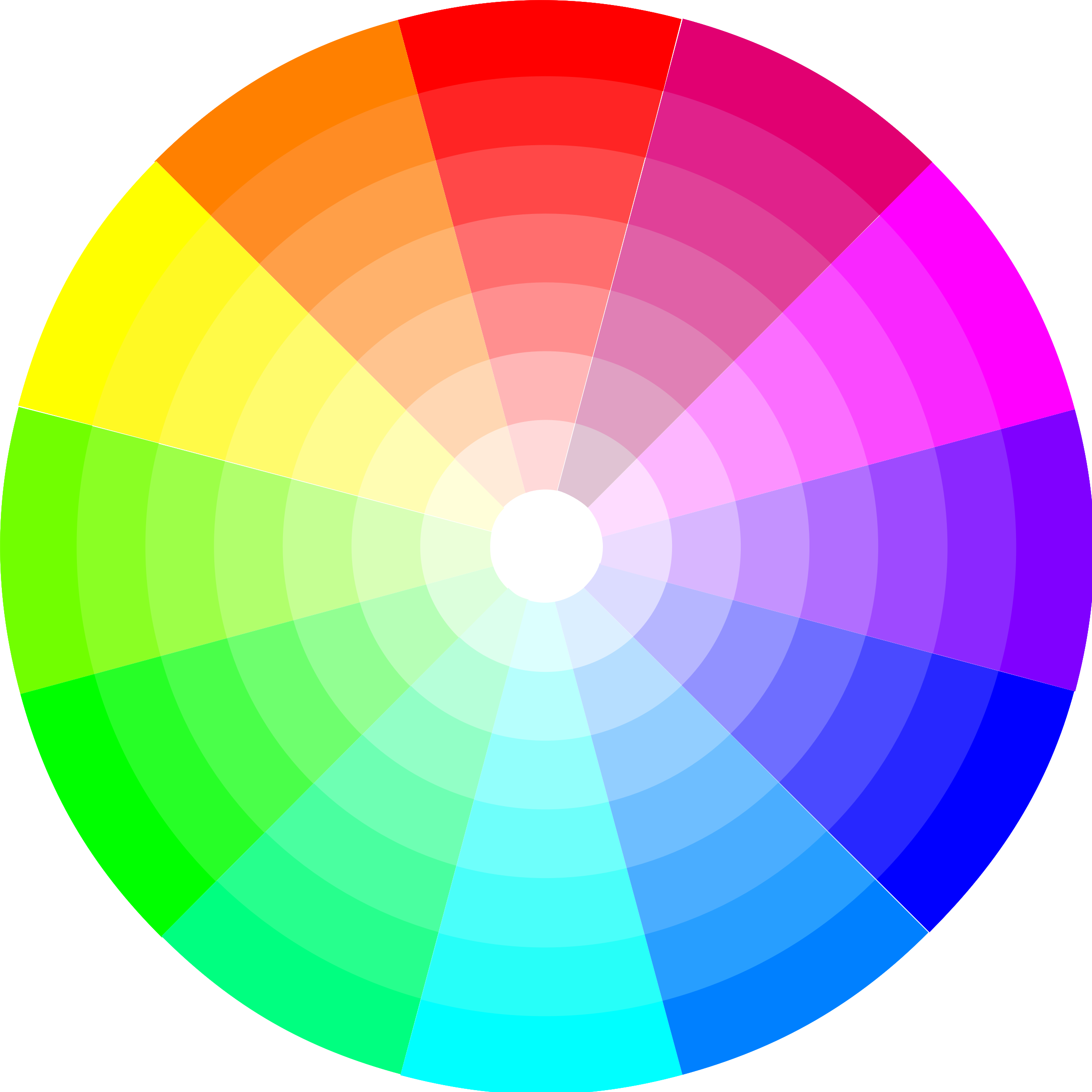 Clipart Color Wheel 12x7